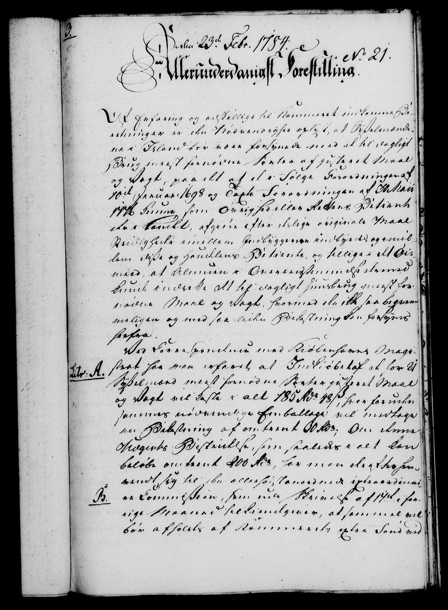 RA, Rentekammeret, Kammerkanselliet, G/Gf/Gfa/L0066: Norsk relasjons- og resolusjonsprotokoll (merket RK 52.66), 1784, s. 167