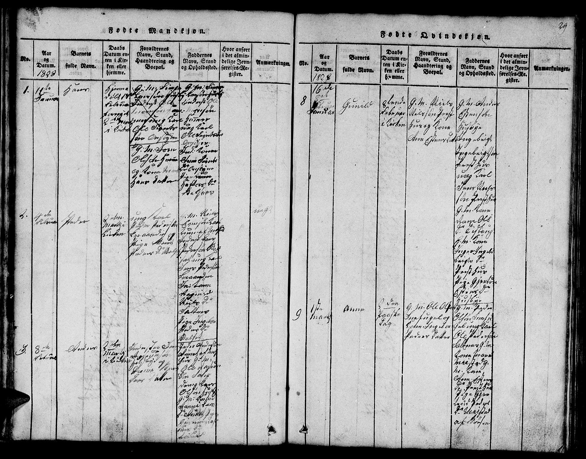 SAT, Ministerialprotokoller, klokkerbøker og fødselsregistre - Sør-Trøndelag, 666/L0788: Klokkerbok nr. 666C01, 1816-1847, s. 29
