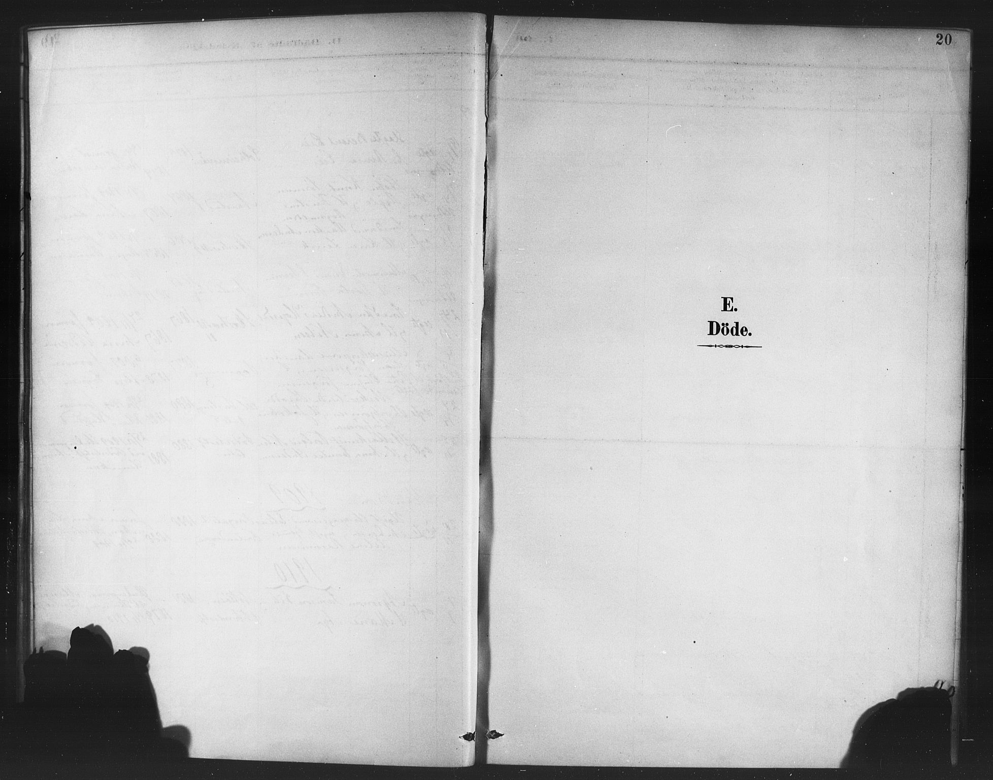 SAB, Korskirken Sokneprestembete, H/Haa/L0047: Ministerialbok nr. E 5, 1884-1910, s. 20