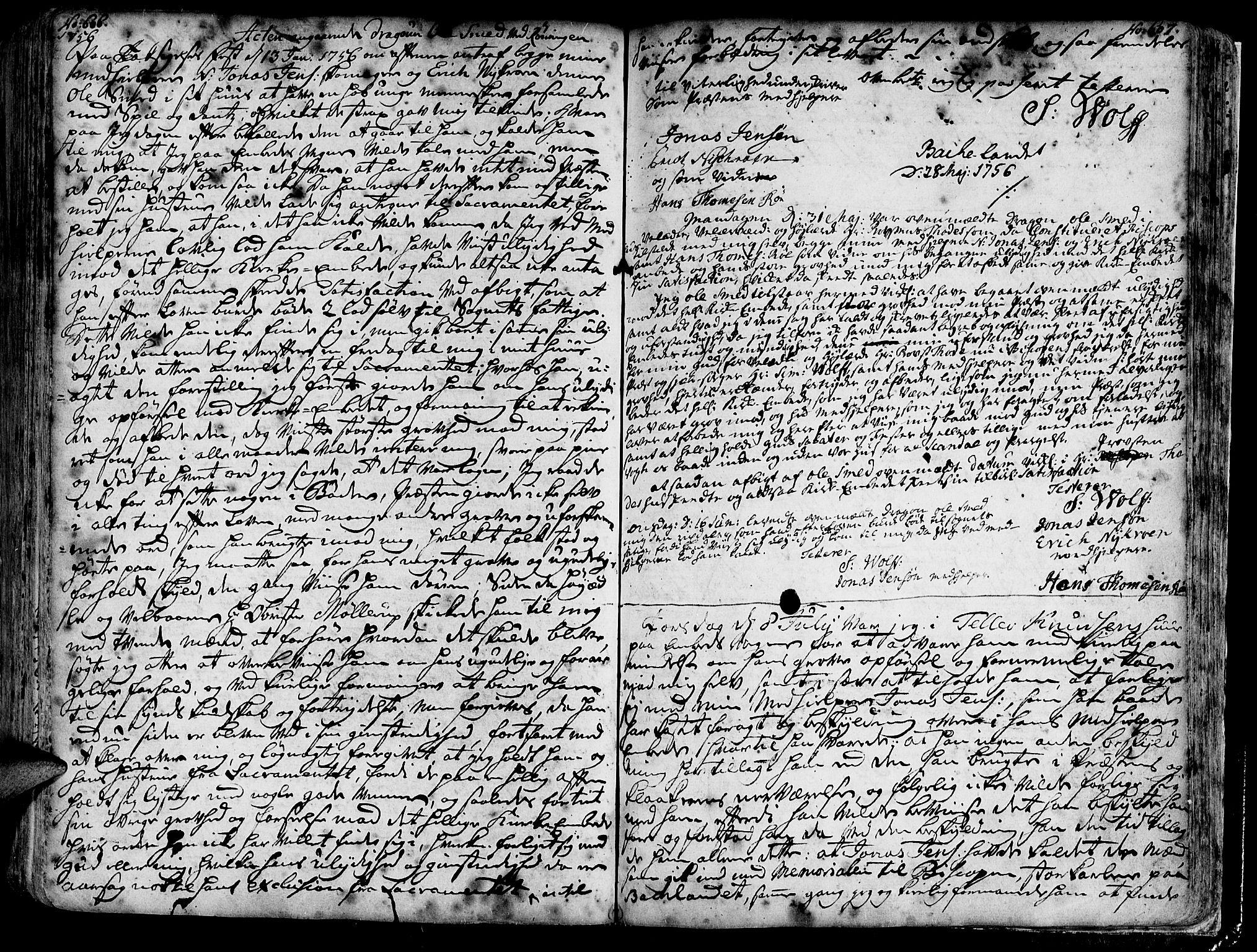 SAT, Ministerialprotokoller, klokkerbøker og fødselsregistre - Sør-Trøndelag, 606/L0275: Ministerialbok nr. 606A01 /1, 1727-1780, s. 606-607