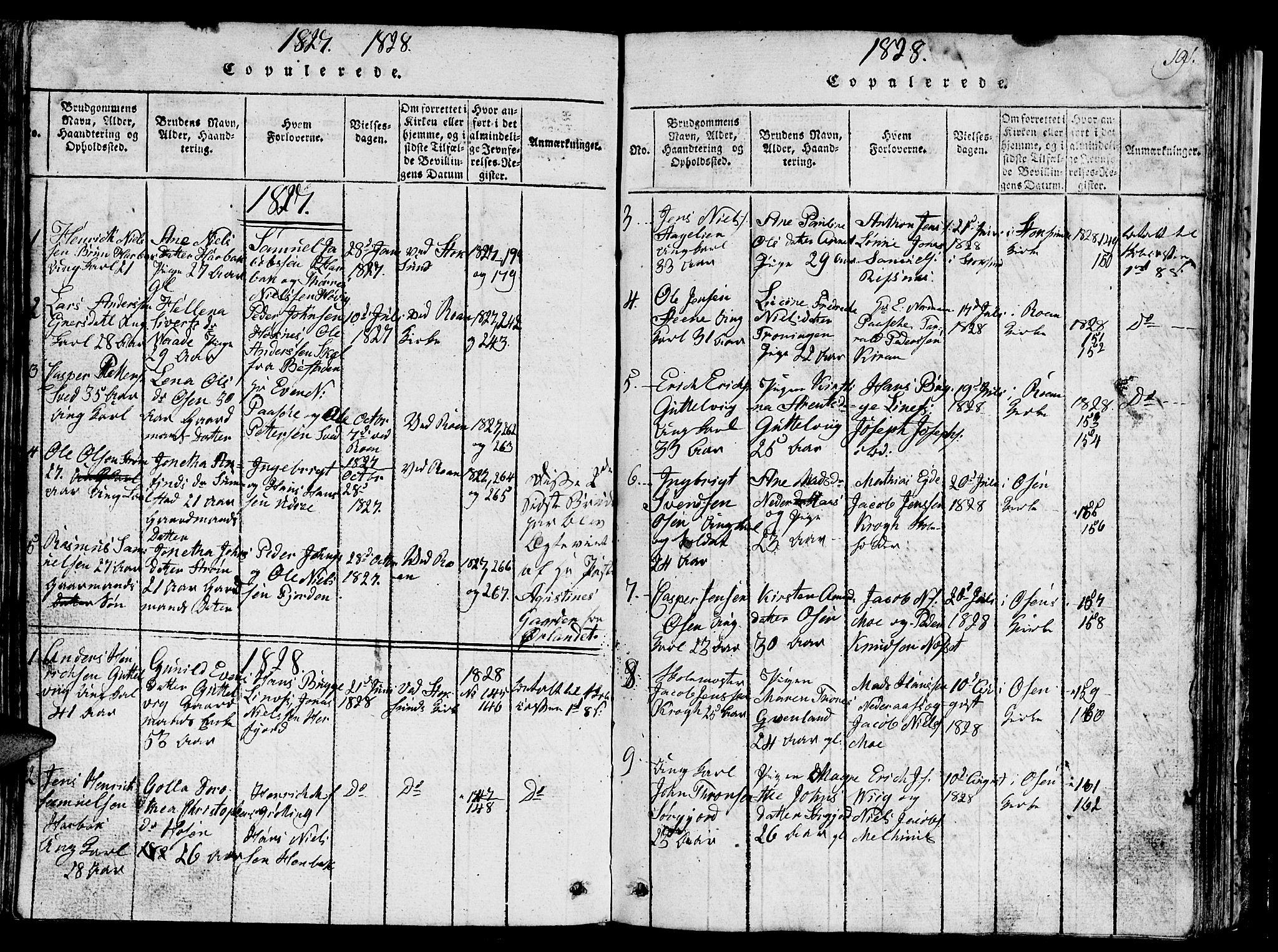SAT, Ministerialprotokoller, klokkerbøker og fødselsregistre - Sør-Trøndelag, 657/L0714: Klokkerbok nr. 657C01, 1818-1868, s. 191