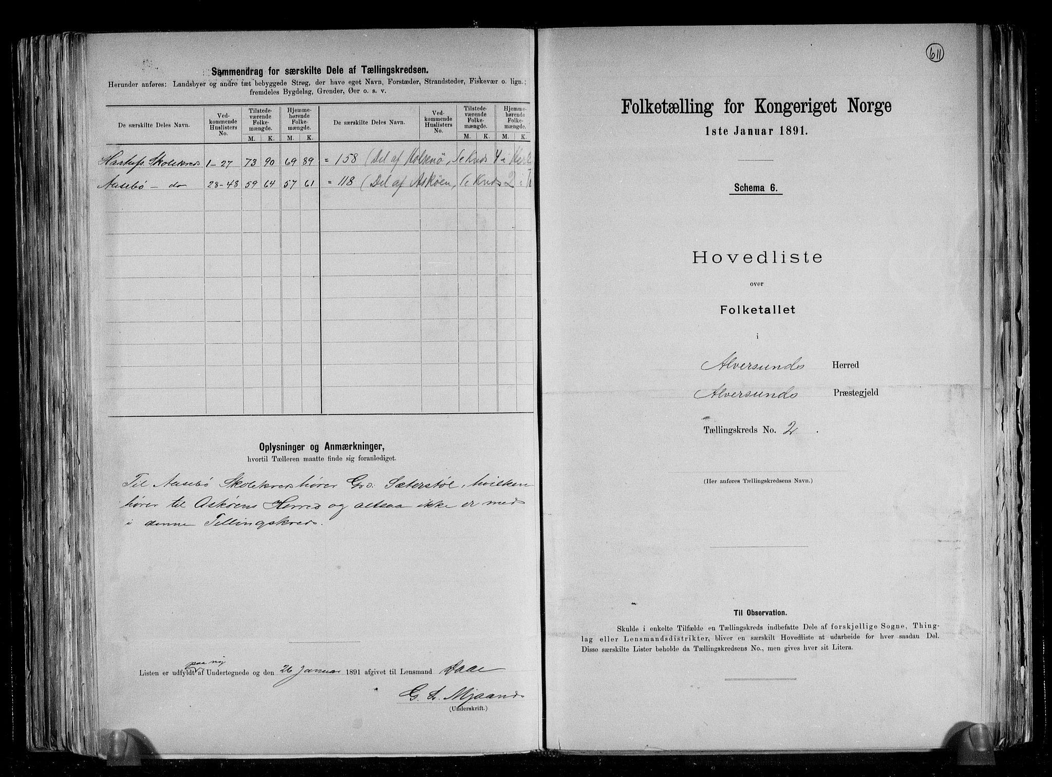 RA, Folketelling 1891 for 1257 Alversund herred, 1891, s. 7