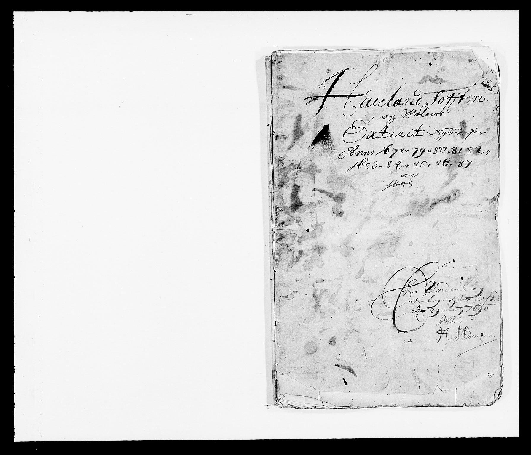 RA, Rentekammeret inntil 1814, Reviderte regnskaper, Fogderegnskap, R18/L1287: Fogderegnskap Hadeland, Toten og Valdres, 1688, s. 2