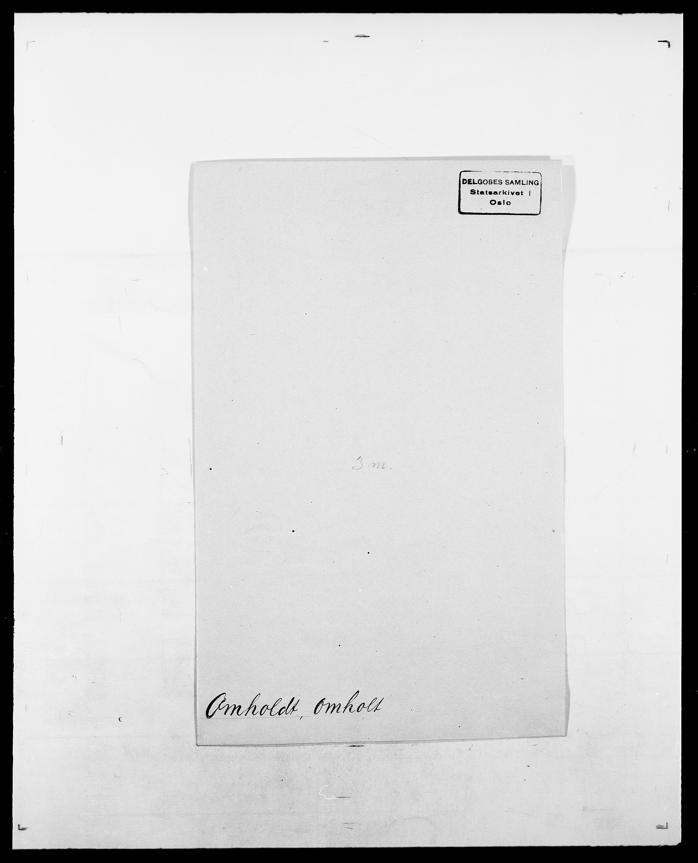 SAO, Delgobe, Charles Antoine - samling, D/Da/L0029: Obel - Oxholm, s. 274
