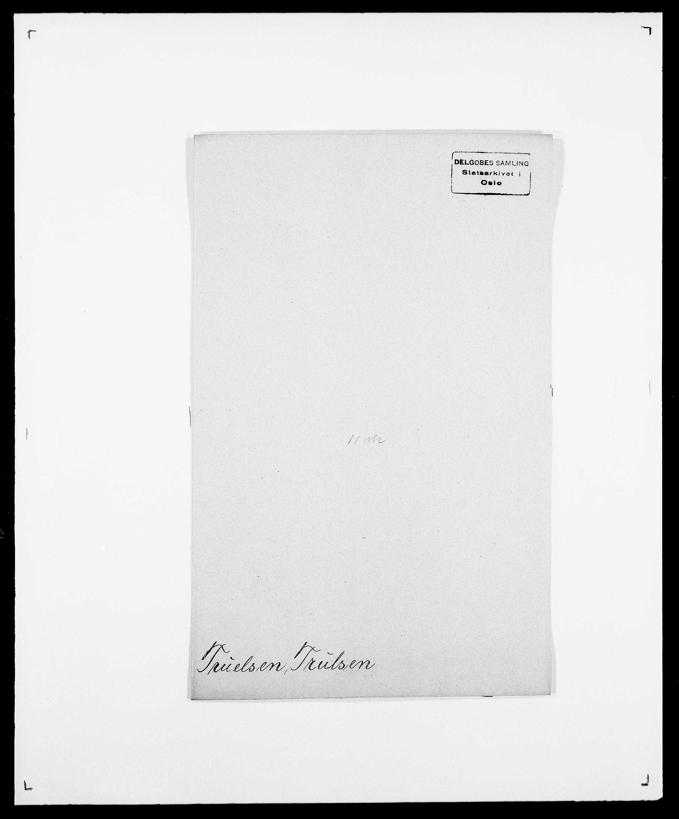SAO, Delgobe, Charles Antoine - samling, D/Da/L0039: Thorsen - Urup, s. 399