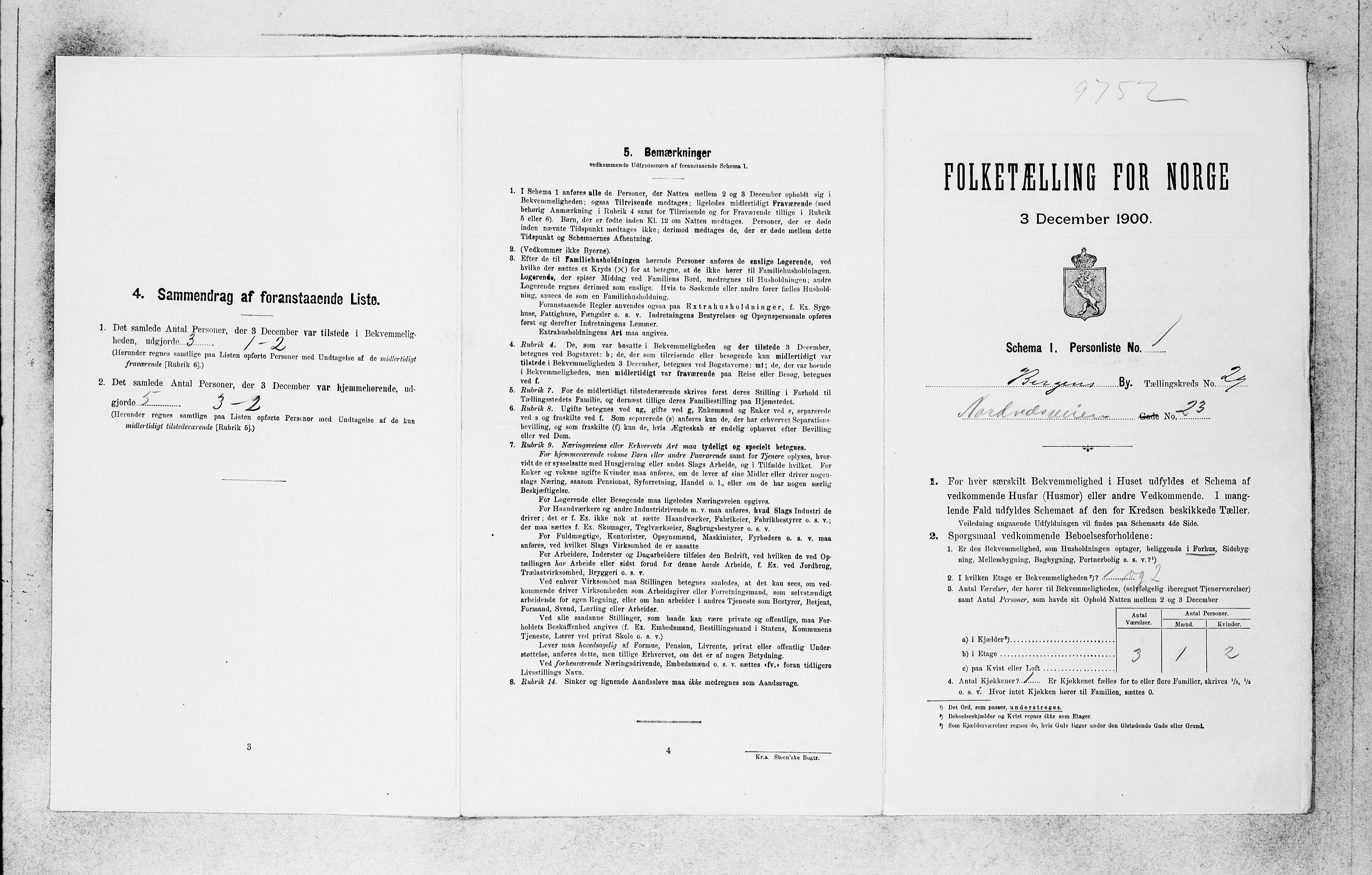 SAB, Folketelling 1900 for 1301 Bergen kjøpstad, 1900, s. 6176