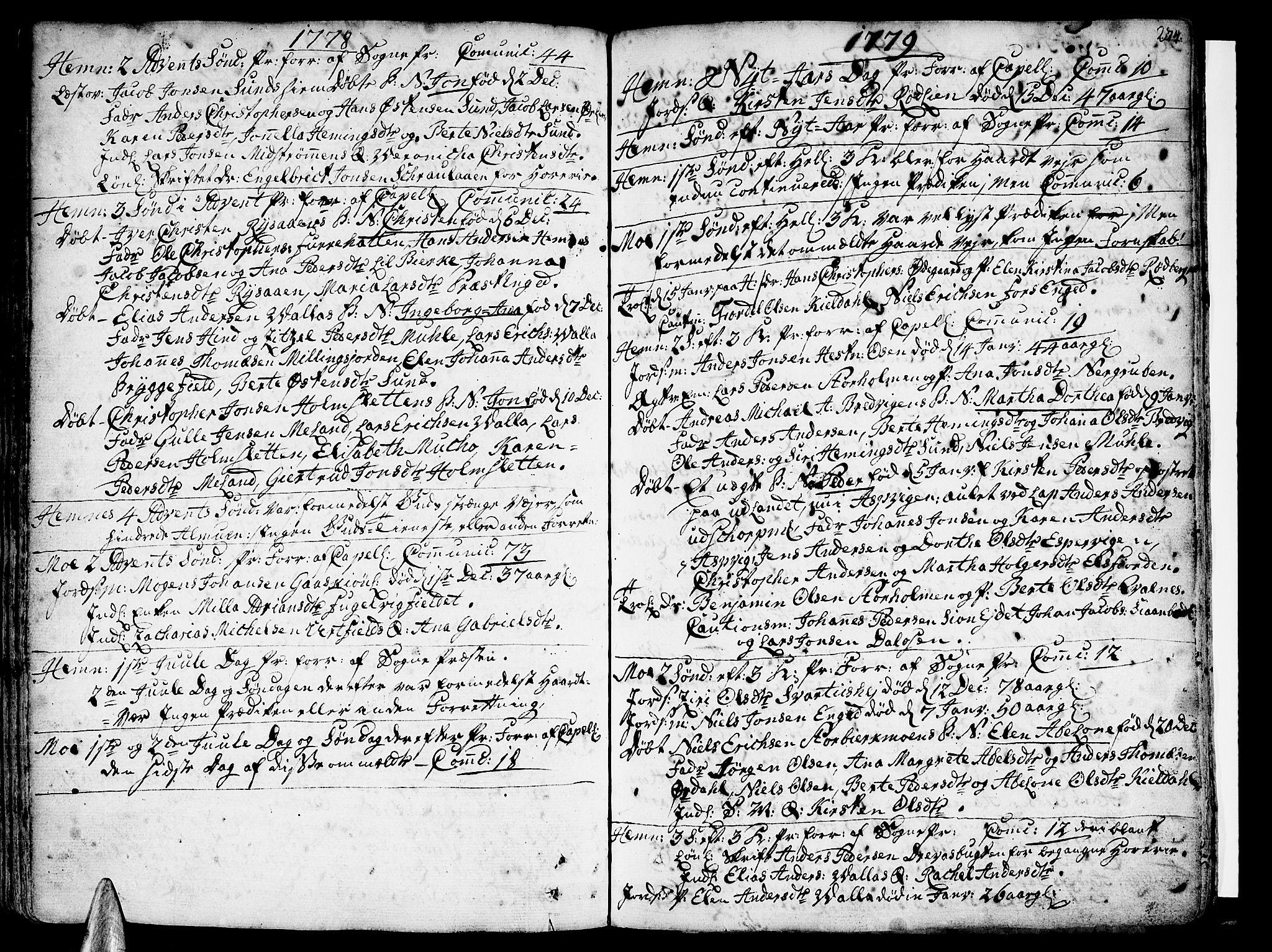 SAT, Ministerialprotokoller, klokkerbøker og fødselsregistre - Nordland, 825/L0348: Ministerialbok nr. 825A04, 1752-1788, s. 274