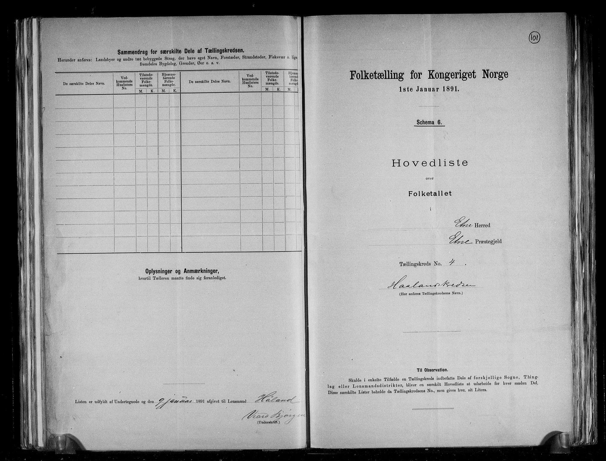 RA, Folketelling 1891 for 1211 Etne herred, 1891, s. 14