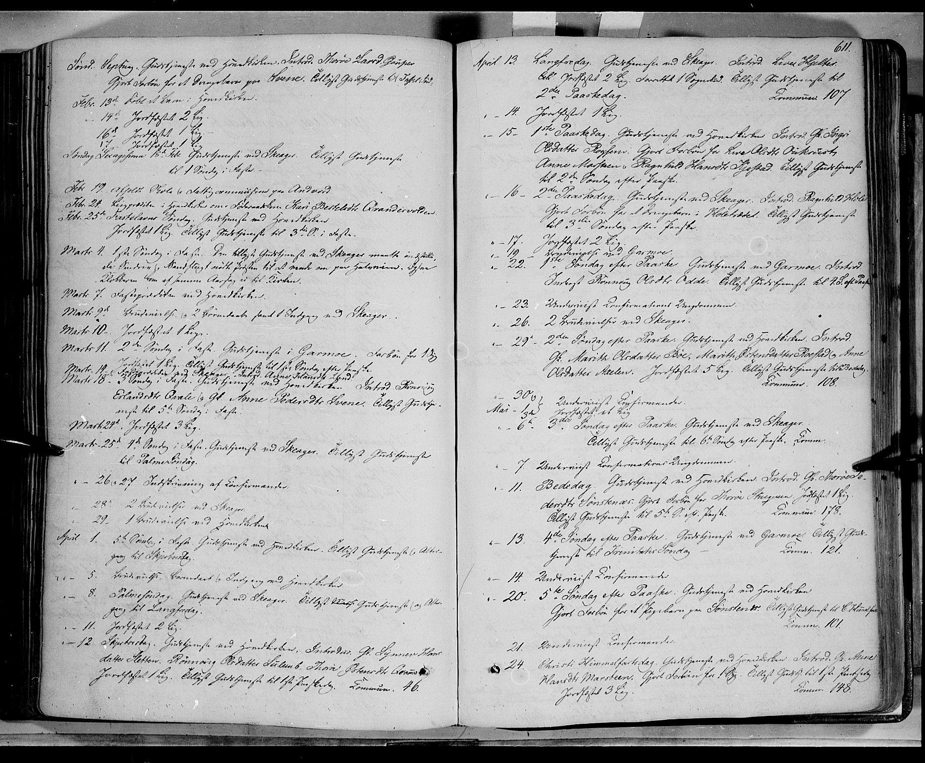 SAH, Lom prestekontor, K/L0006: Ministerialbok nr. 6B, 1837-1863, s. 611