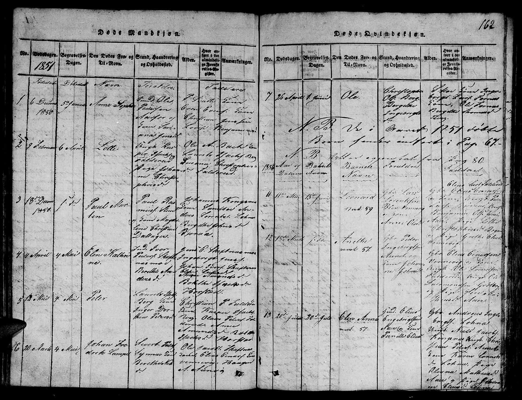 SAT, Ministerialprotokoller, klokkerbøker og fødselsregistre - Nord-Trøndelag, 780/L0648: Klokkerbok nr. 780C01 /3, 1815-1877, s. 162