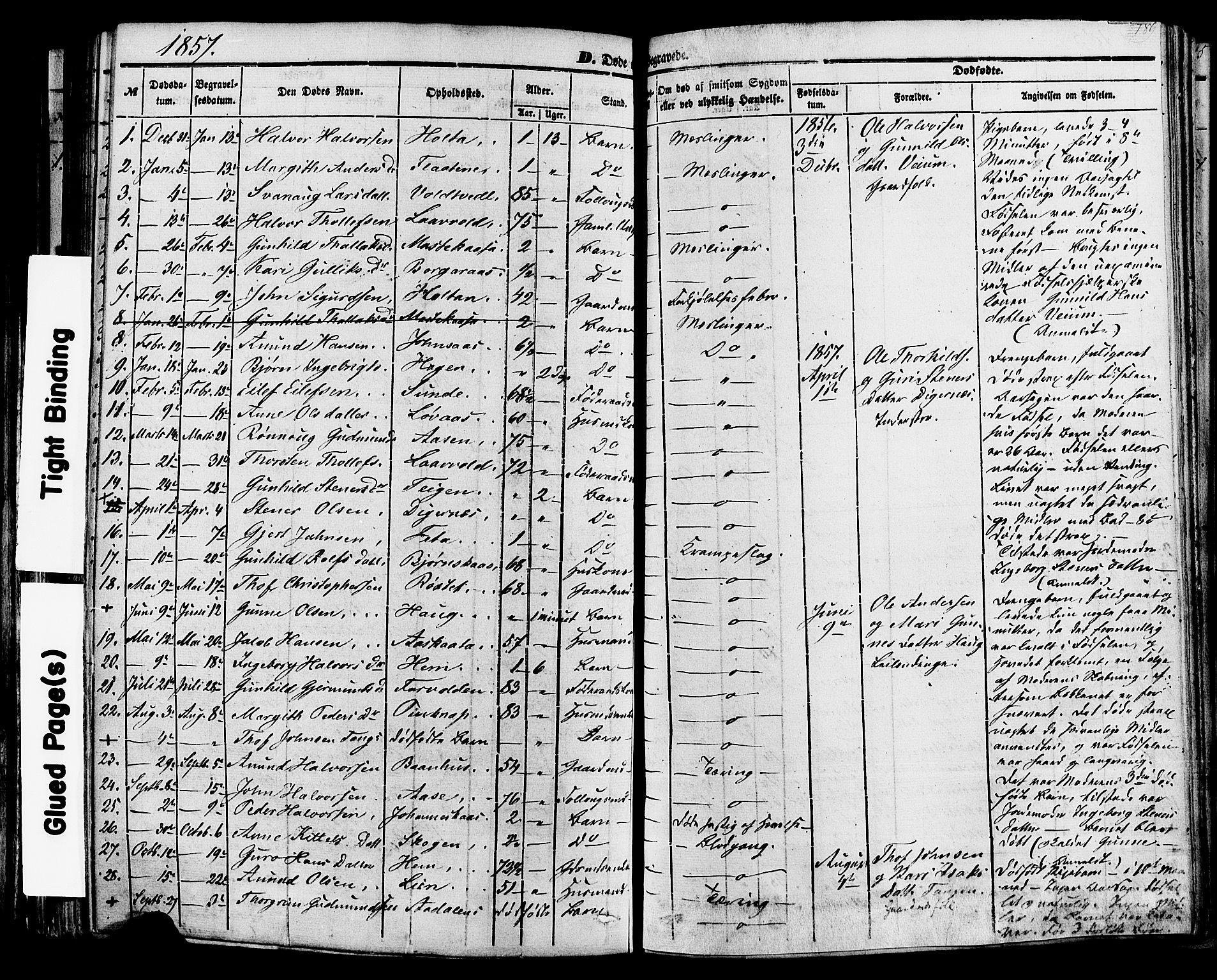 SAKO, Sauherad kirkebøker, F/Fa/L0007: Ministerialbok nr. I 7, 1851-1873, s. 189
