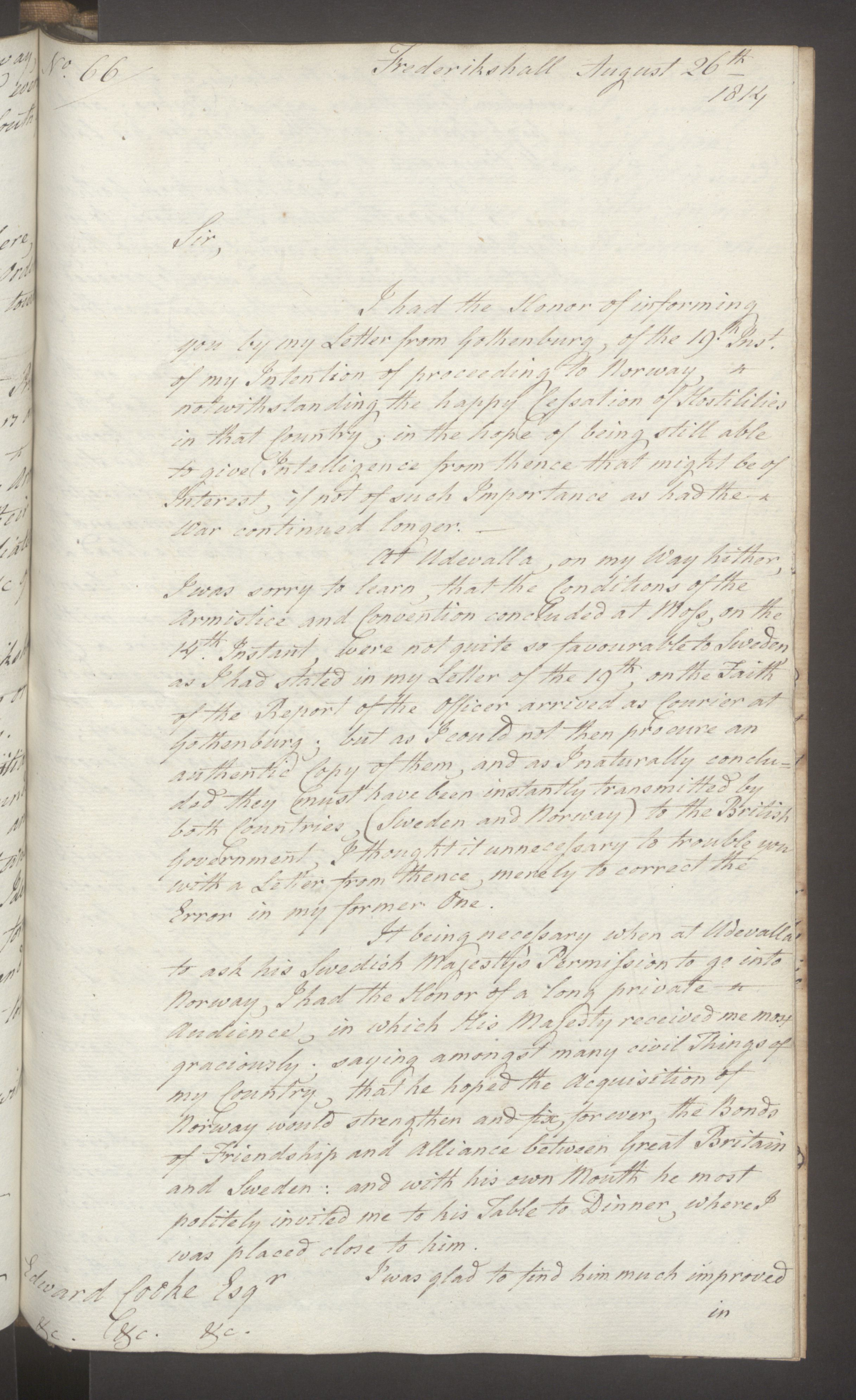 UKA, Foreign Office*, FO 38/16: Sir C. Gordon. Reports from Malmö, Jonkoping, and Helsingborg, 1814, s. 95