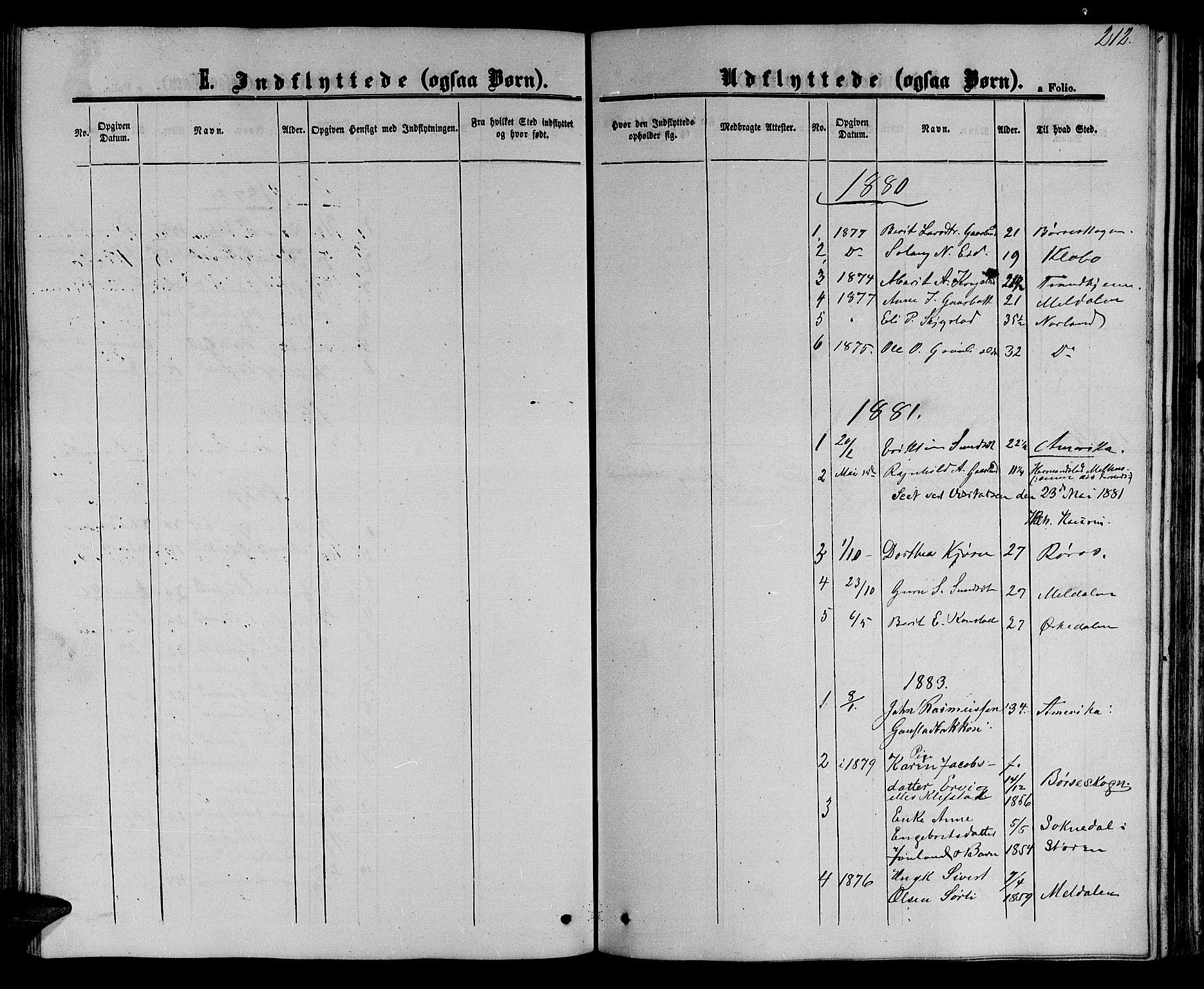 SAT, Ministerialprotokoller, klokkerbøker og fødselsregistre - Sør-Trøndelag, 694/L1131: Klokkerbok nr. 694C03, 1858-1886, s. 212