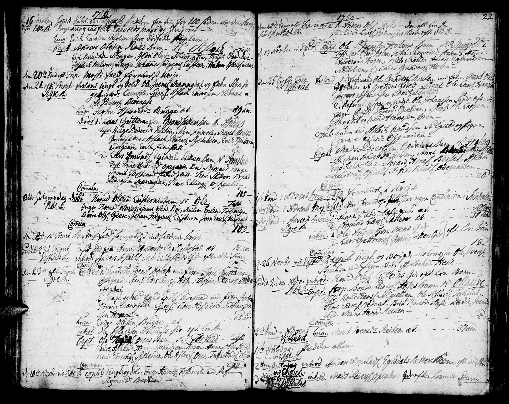 SAT, Ministerialprotokoller, klokkerbøker og fødselsregistre - Møre og Romsdal, 551/L0621: Ministerialbok nr. 551A01, 1757-1803, s. 22