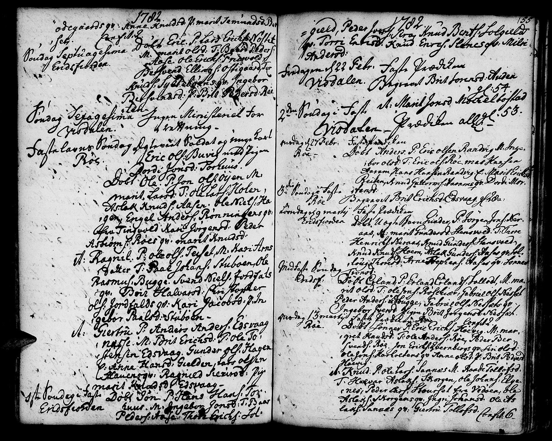 SAT, Ministerialprotokoller, klokkerbøker og fødselsregistre - Møre og Romsdal, 551/L0621: Ministerialbok nr. 551A01, 1757-1803, s. 155