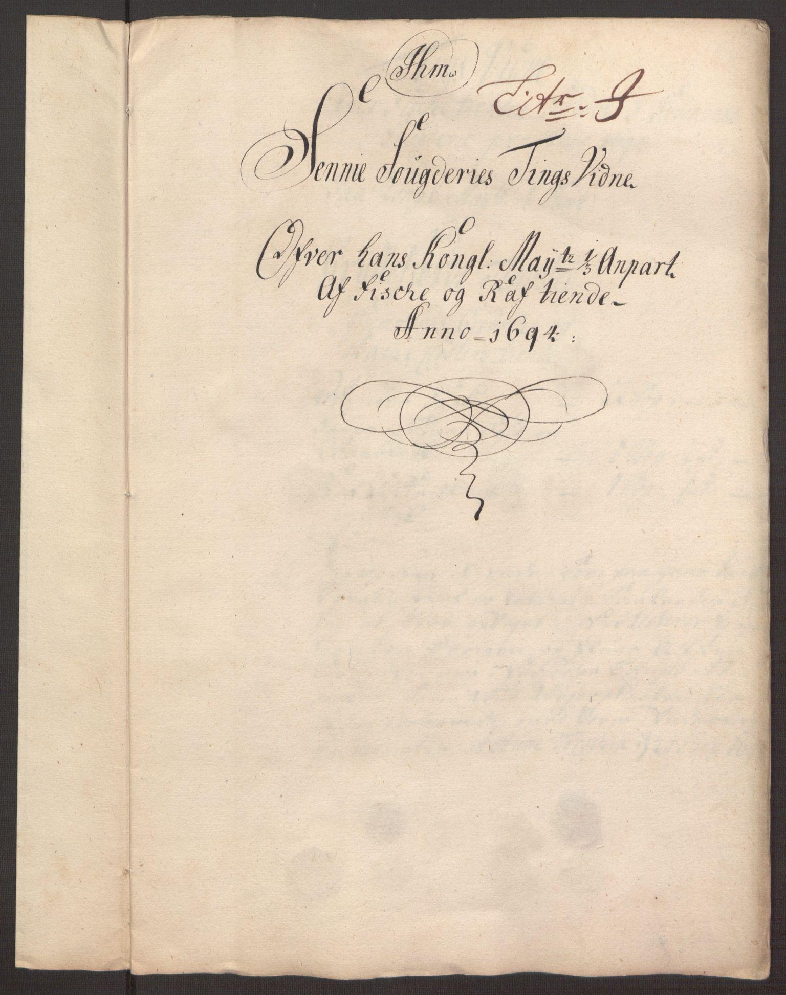 RA, Rentekammeret inntil 1814, Reviderte regnskaper, Fogderegnskap, R68/L4753: Fogderegnskap Senja og Troms, 1694-1696, s. 119