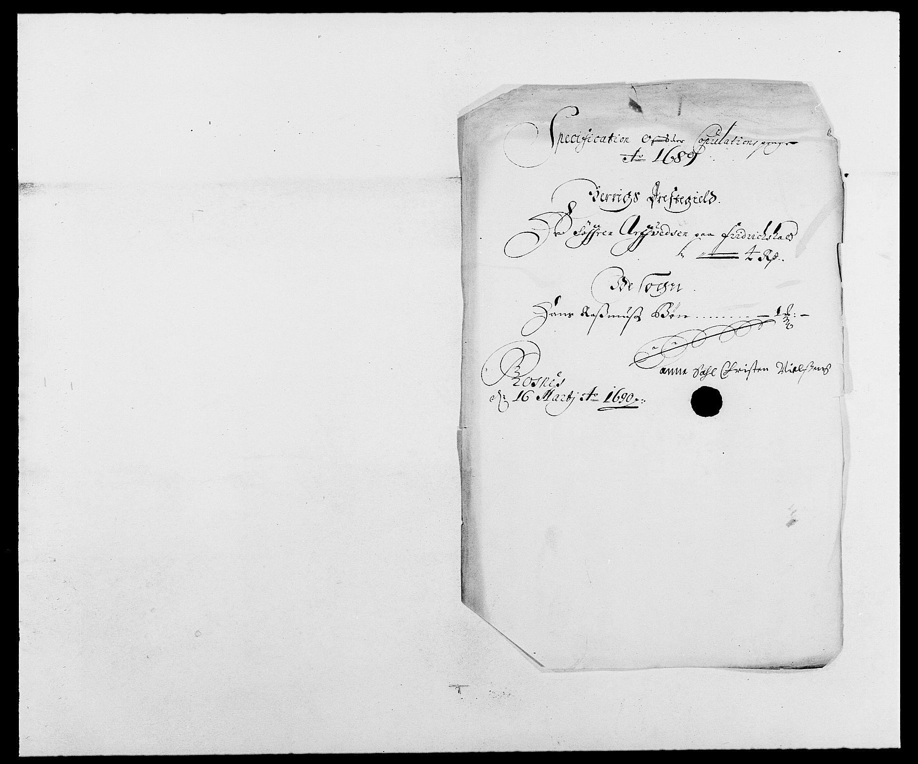 RA, Rentekammeret inntil 1814, Reviderte regnskaper, Fogderegnskap, R01/L0008: Fogderegnskap Idd og Marker, 1689, s. 237