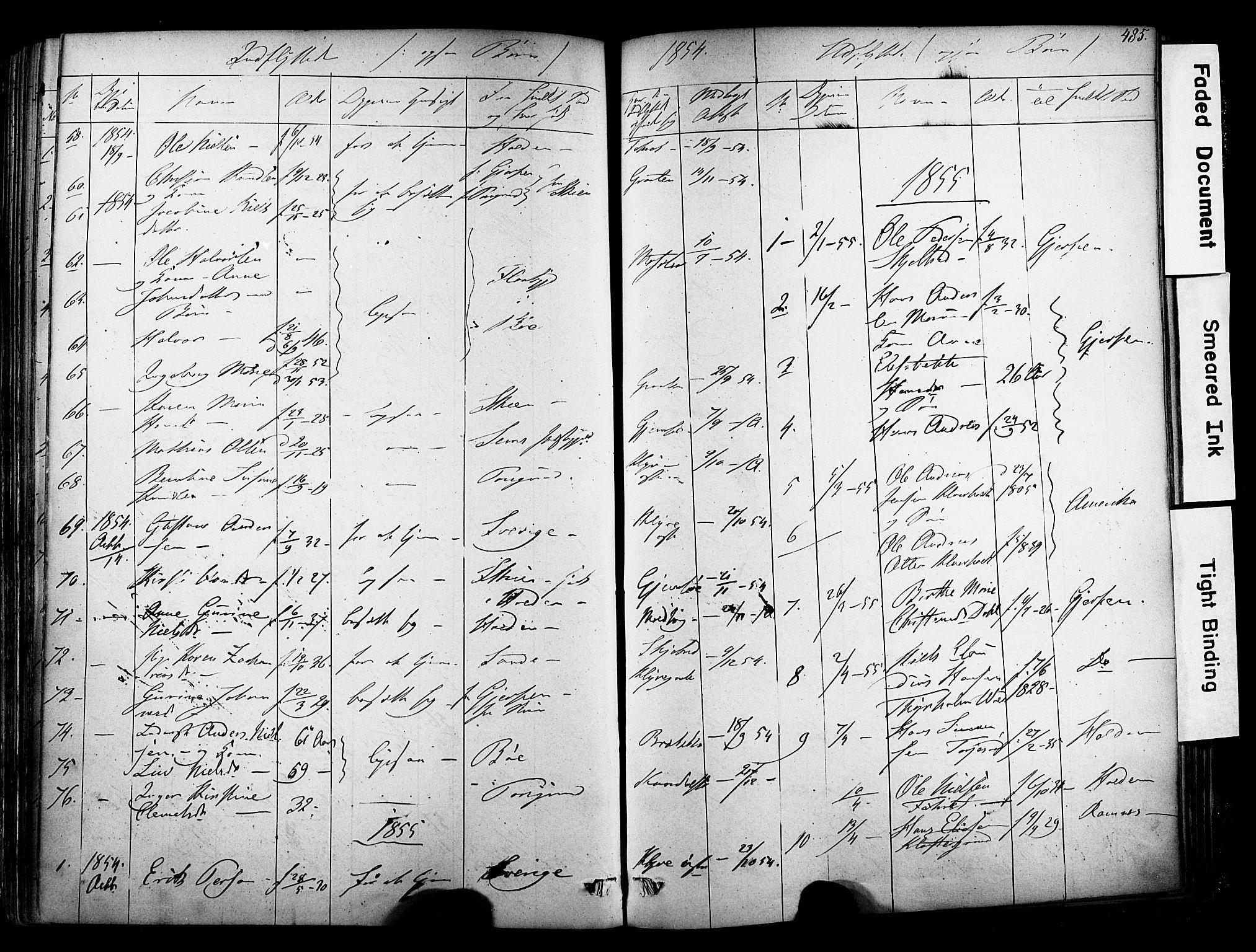 SAKO, Solum kirkebøker, F/Fa/L0006: Ministerialbok nr. I 6, 1844-1855, s. 485