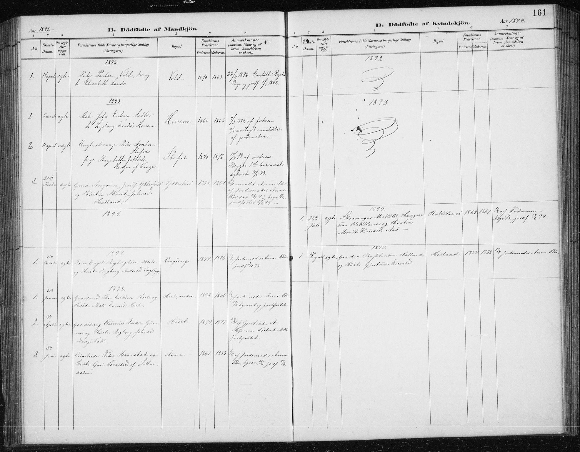 SAT, Ministerialprotokoller, klokkerbøker og fødselsregistre - Sør-Trøndelag, 674/L0876: Klokkerbok nr. 674C03, 1892-1912, s. 161