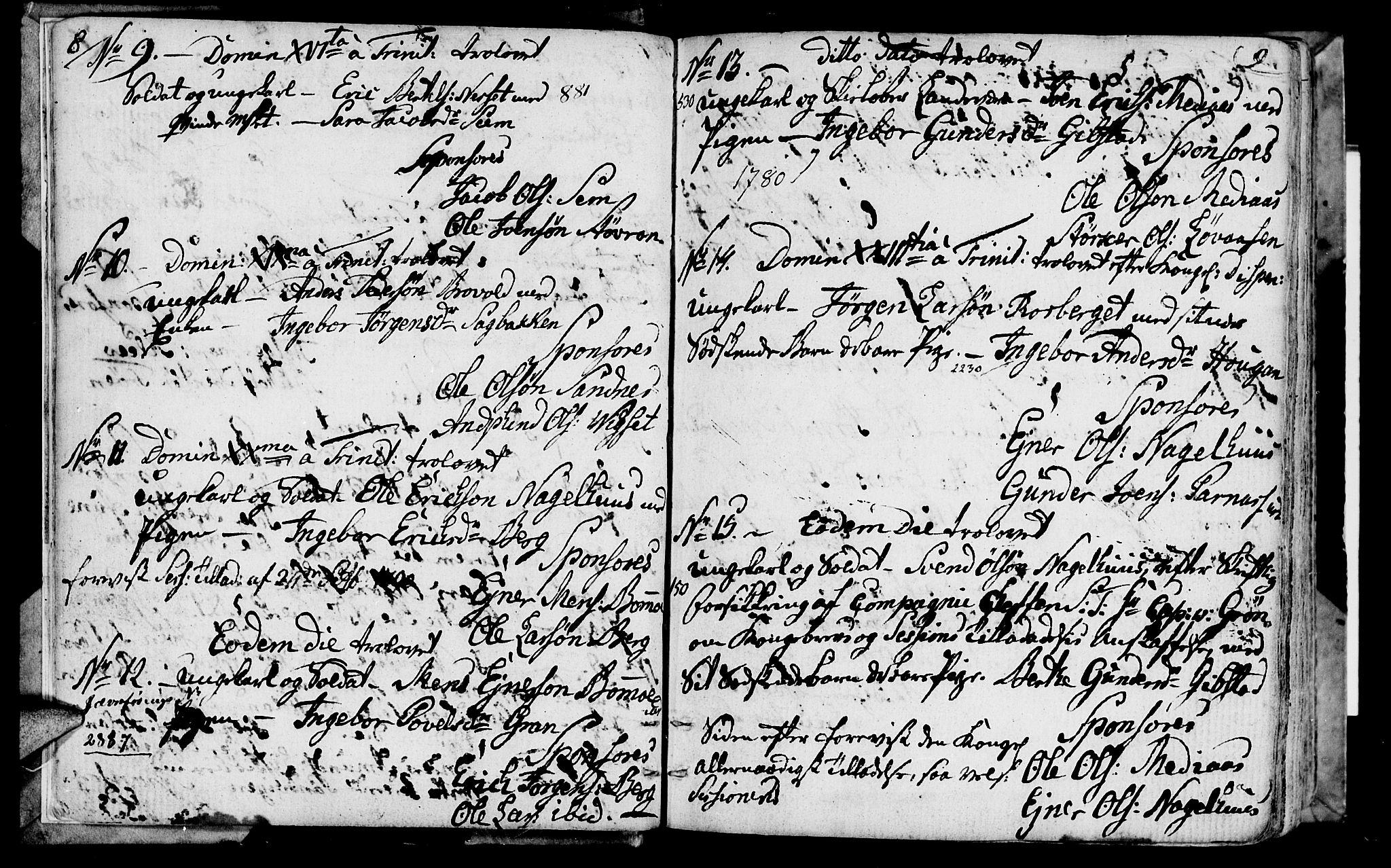 SAT, Ministerialprotokoller, klokkerbøker og fødselsregistre - Nord-Trøndelag, 749/L0468: Ministerialbok nr. 749A02, 1787-1817, s. 8-9