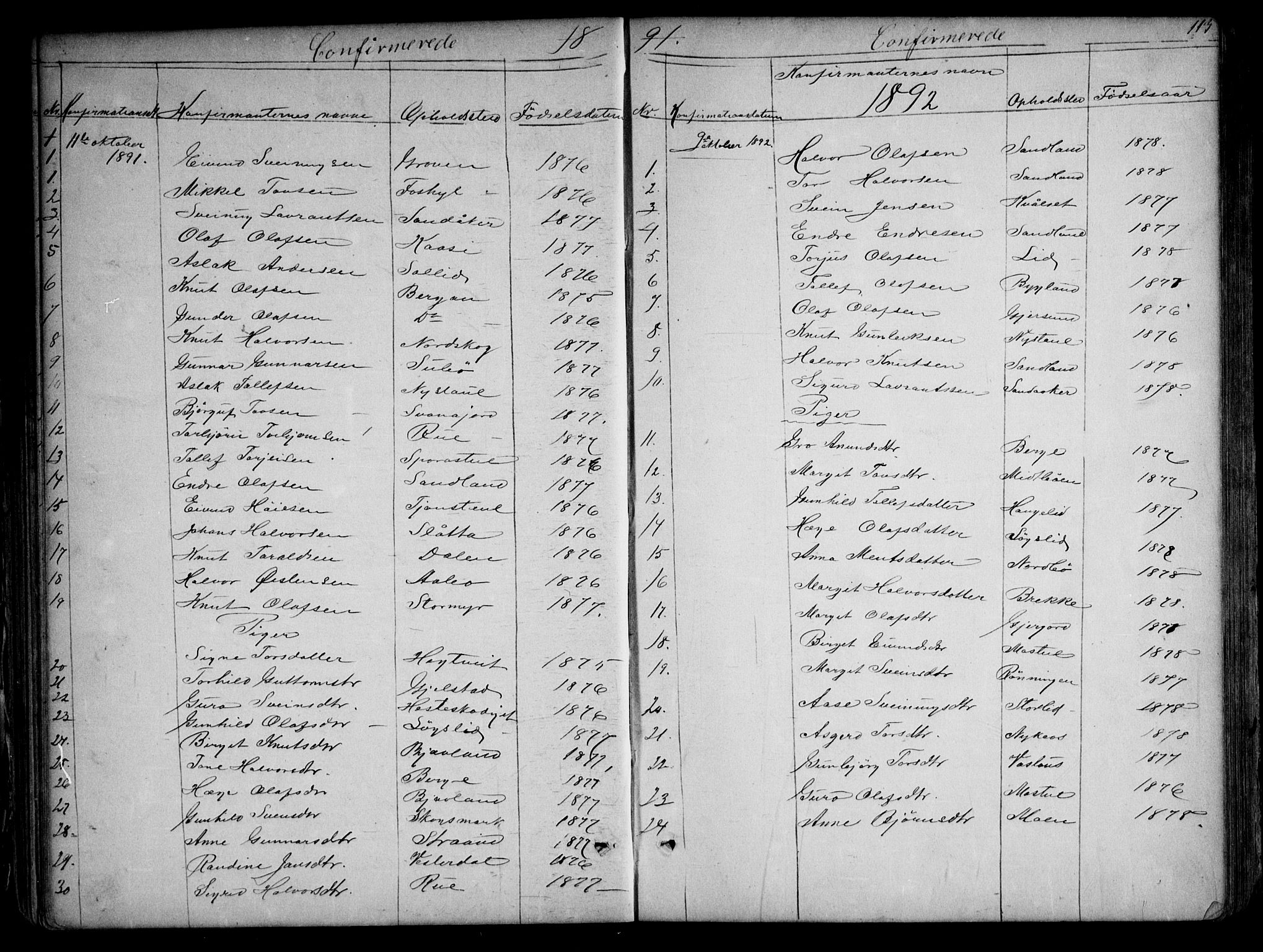 SAKO, Kviteseid kirkebøker, G/Gb/L0002: Klokkerbok nr. II 2, 1850-1892, s. 113