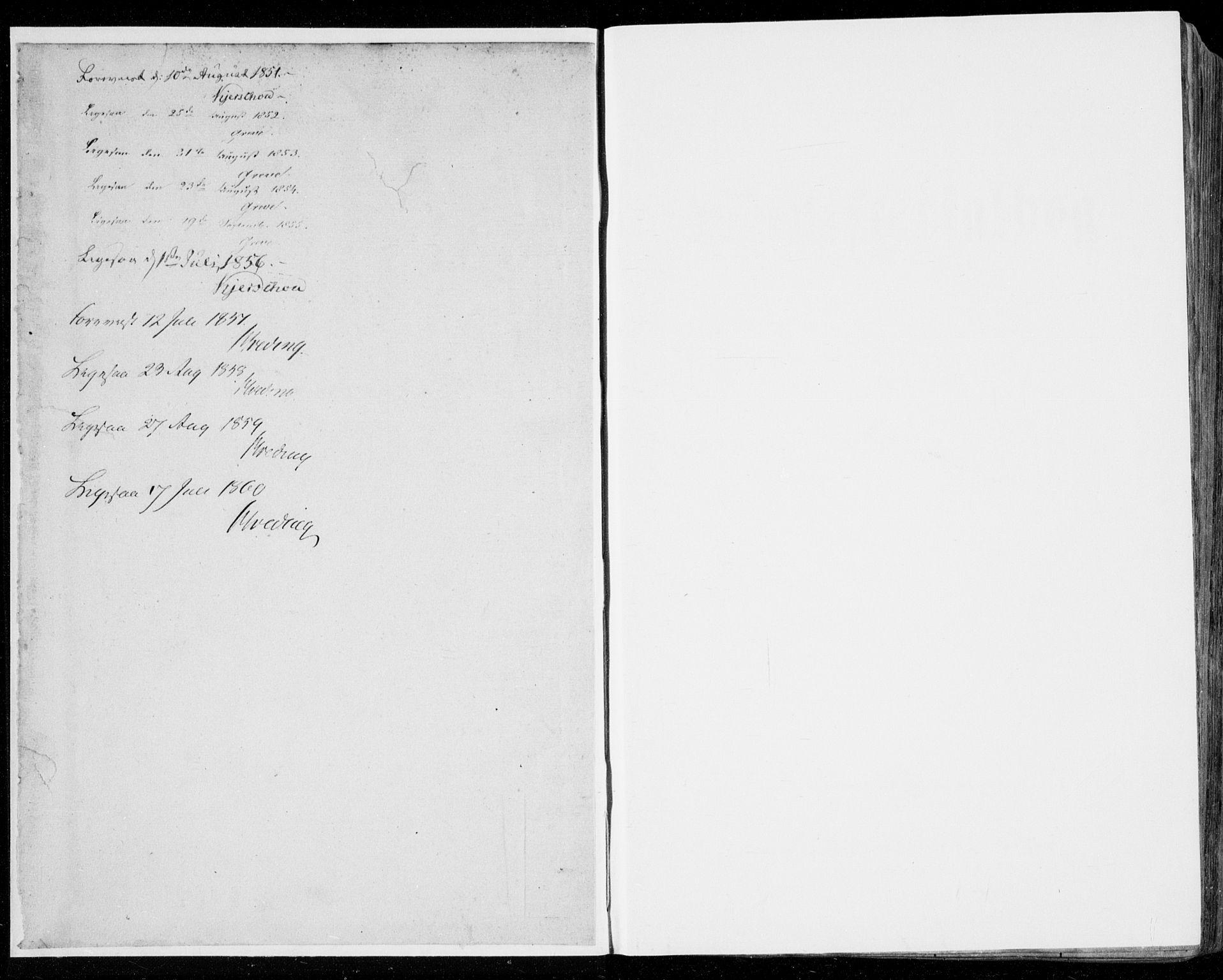 SAB, Manger sokneprestembete, H/Haa: Ministerialbok nr. A 6, 1849-1859