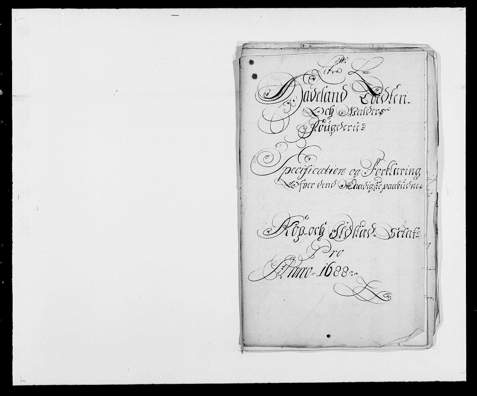 RA, Rentekammeret inntil 1814, Reviderte regnskaper, Fogderegnskap, R18/L1287: Fogderegnskap Hadeland, Toten og Valdres, 1688, s. 280