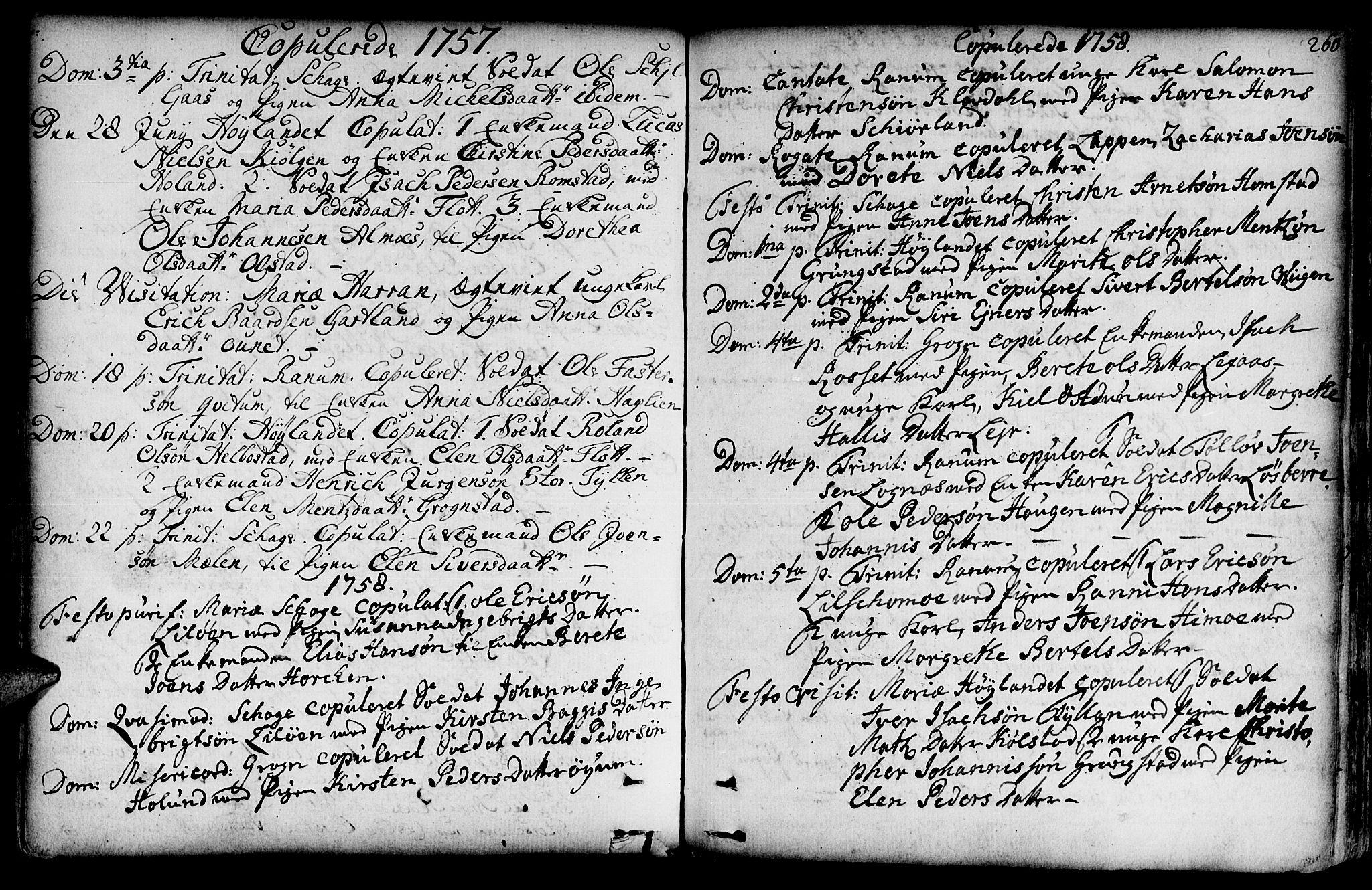 SAT, Ministerialprotokoller, klokkerbøker og fødselsregistre - Nord-Trøndelag, 764/L0542: Ministerialbok nr. 764A02, 1748-1779, s. 260