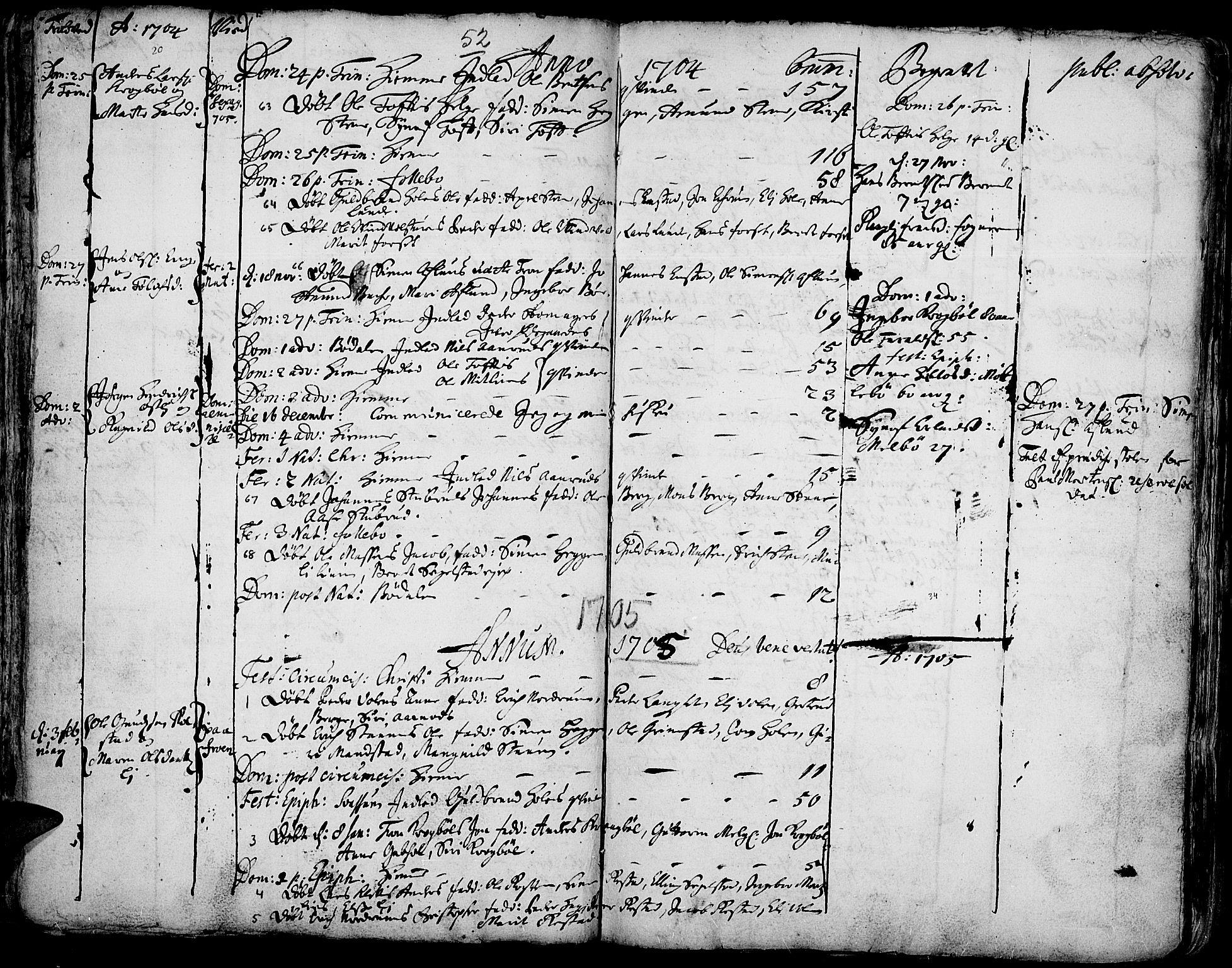 SAH, Gausdal prestekontor, Ministerialbok nr. 1, 1693-1728, s. 52