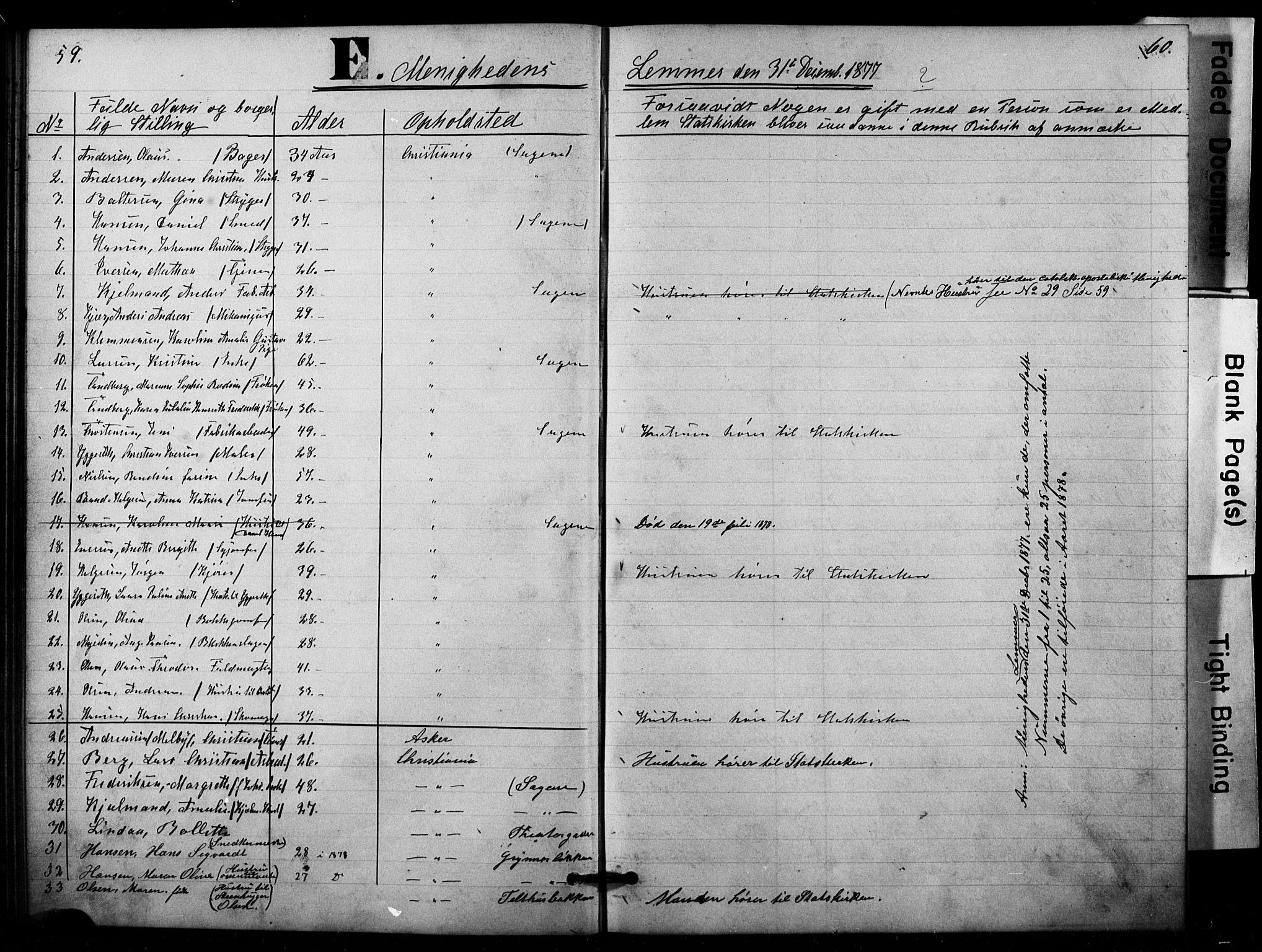 SAO, Den katolsk apostoliske menighet i Oslo , F/Fa/L0001: Dissenterprotokoll nr. 1, 1877-1891, s. 59-60