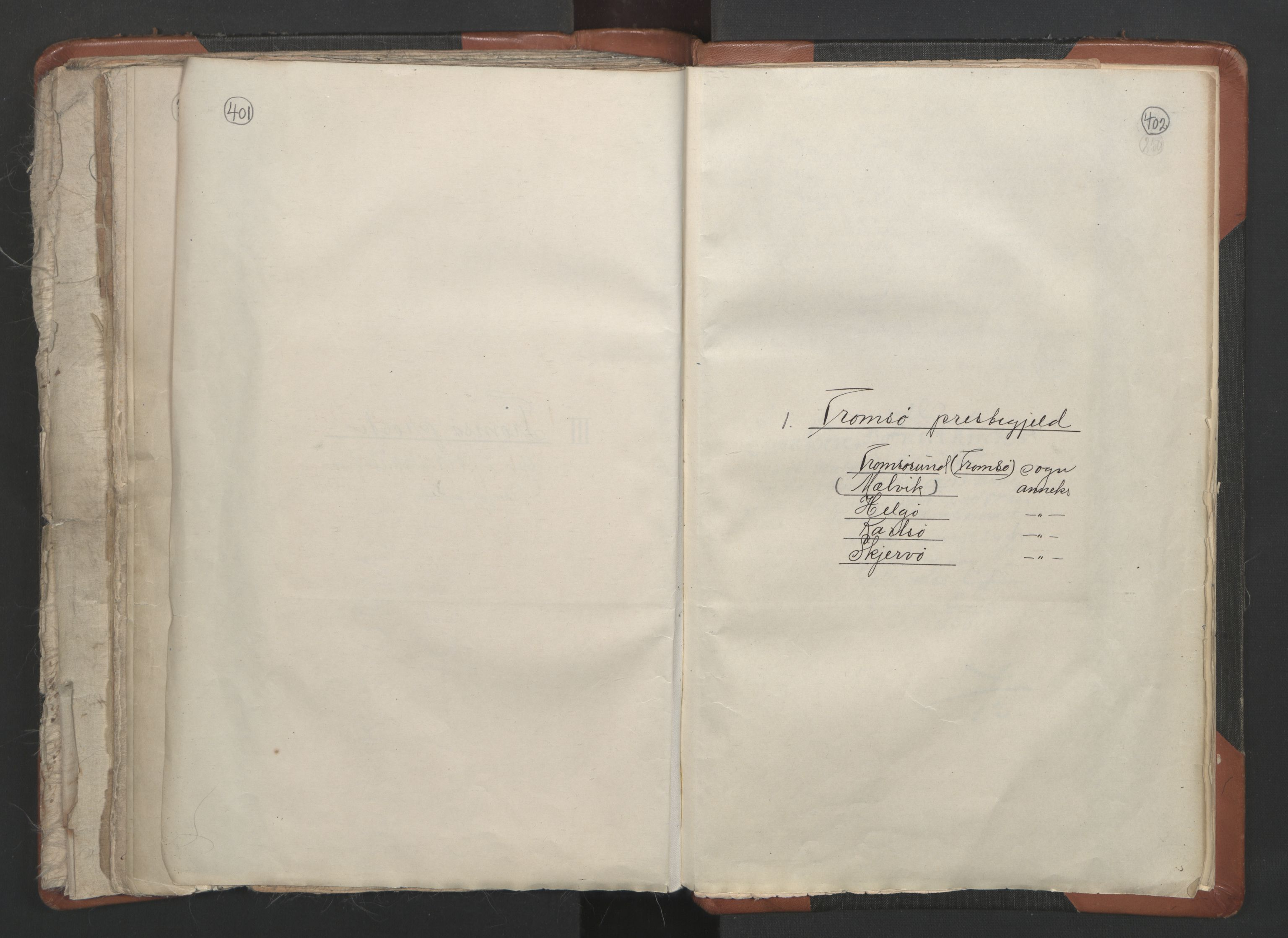 RA, Sogneprestenes manntall 1664-1666, nr. 36: Lofoten og Vesterålen prosti, Senja prosti og Troms prosti, 1664-1666, s. 401-402