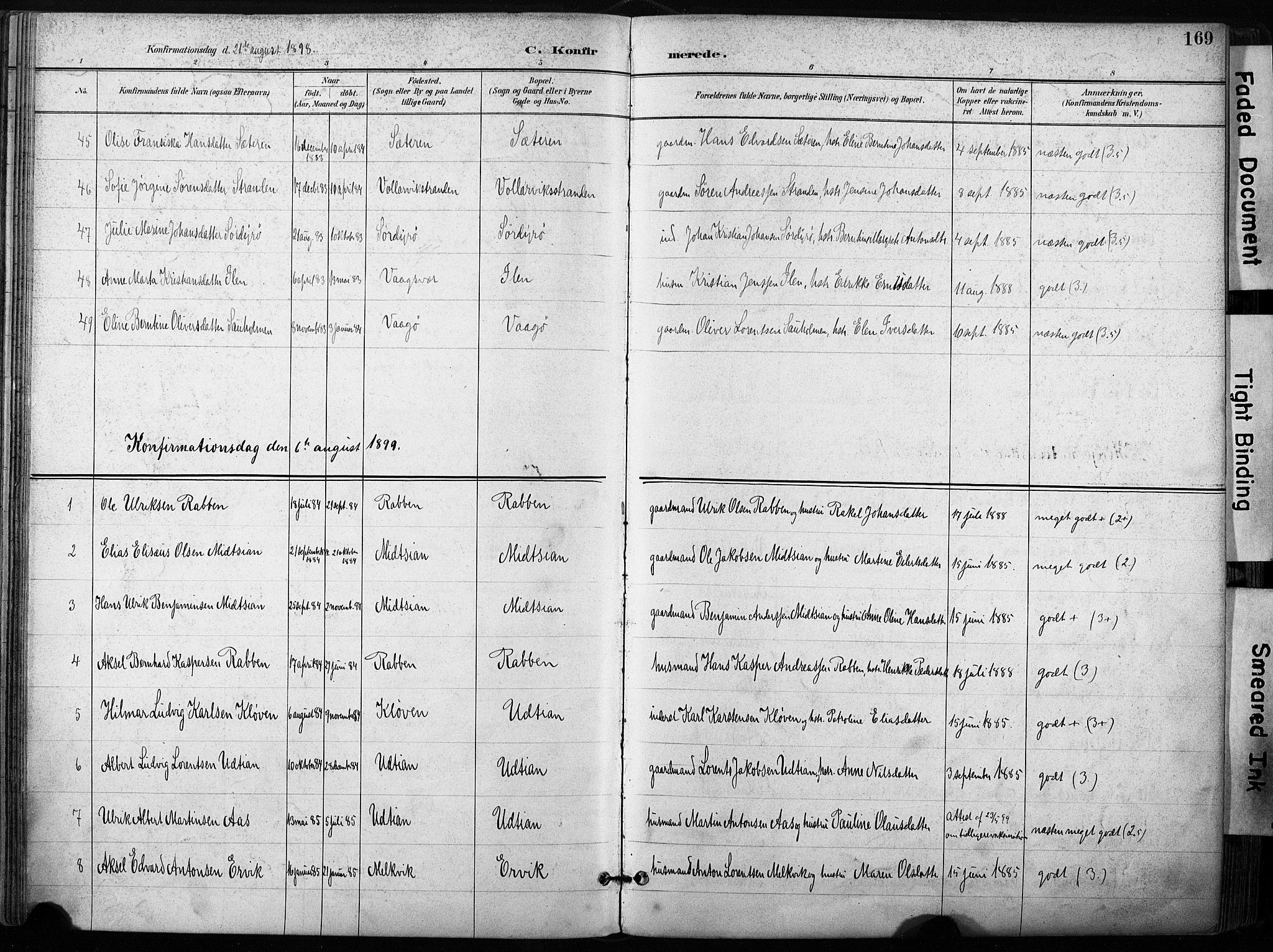 SAT, Ministerialprotokoller, klokkerbøker og fødselsregistre - Sør-Trøndelag, 640/L0579: Ministerialbok nr. 640A04, 1889-1902, s. 169
