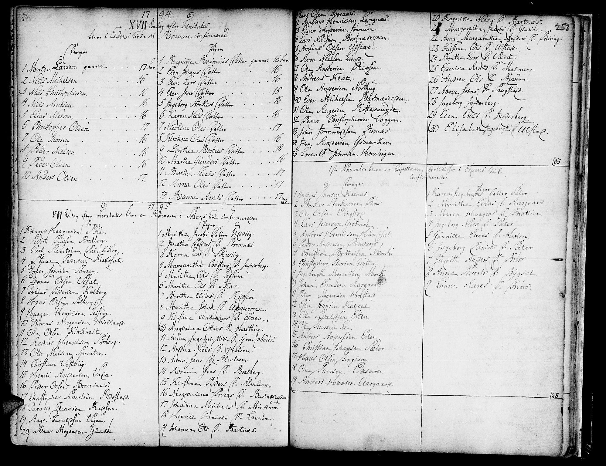 SAT, Ministerialprotokoller, klokkerbøker og fødselsregistre - Nord-Trøndelag, 741/L0385: Ministerialbok nr. 741A01, 1722-1815, s. 253