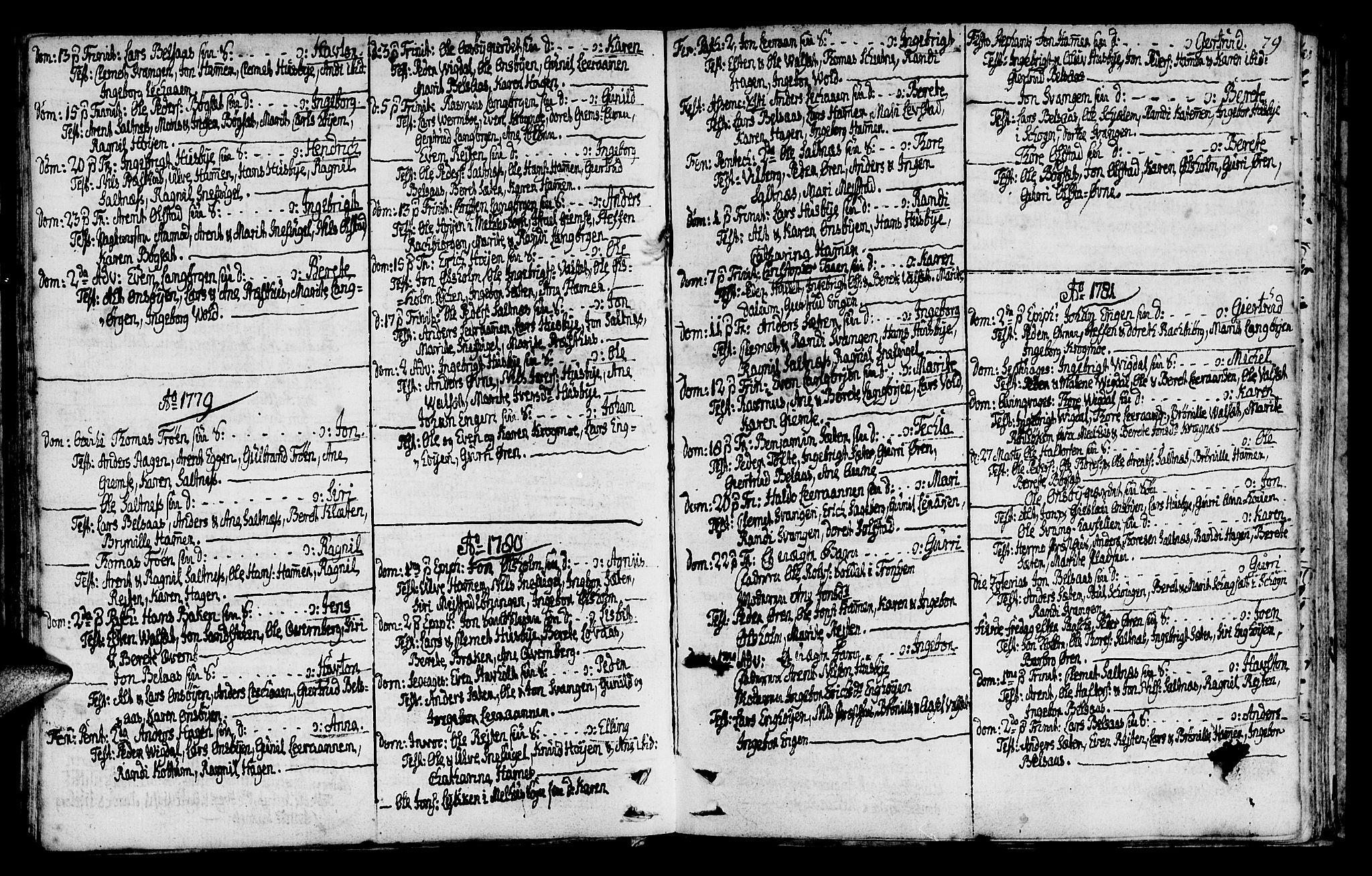 SAT, Ministerialprotokoller, klokkerbøker og fødselsregistre - Sør-Trøndelag, 666/L0784: Ministerialbok nr. 666A02, 1754-1802, s. 79