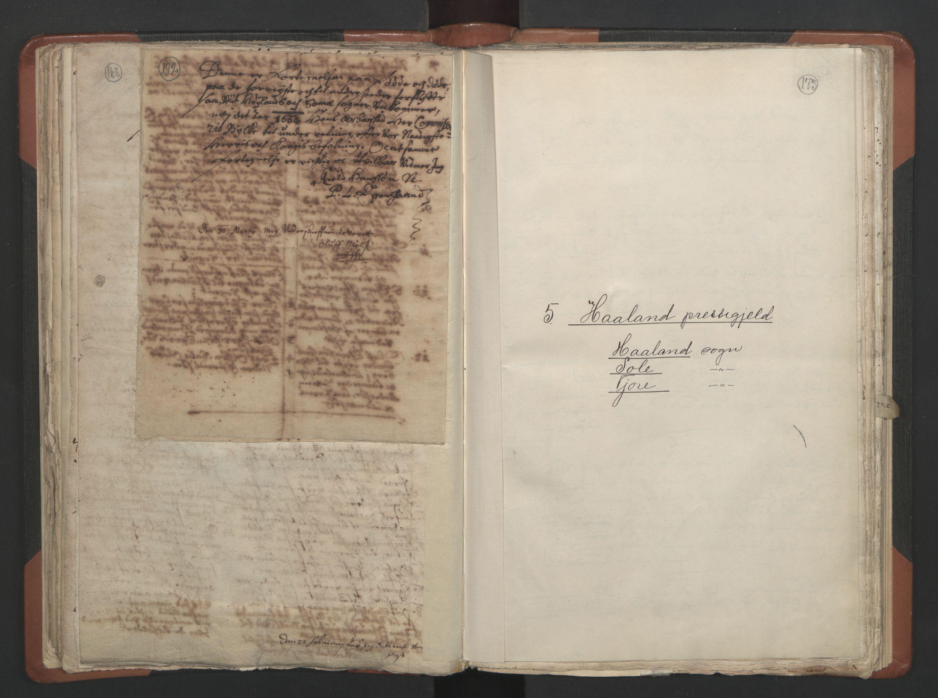 RA, Sogneprestenes manntall 1664-1666, nr. 17: Jæren prosti og Dalane prosti, 1664-1666, s. 172-173