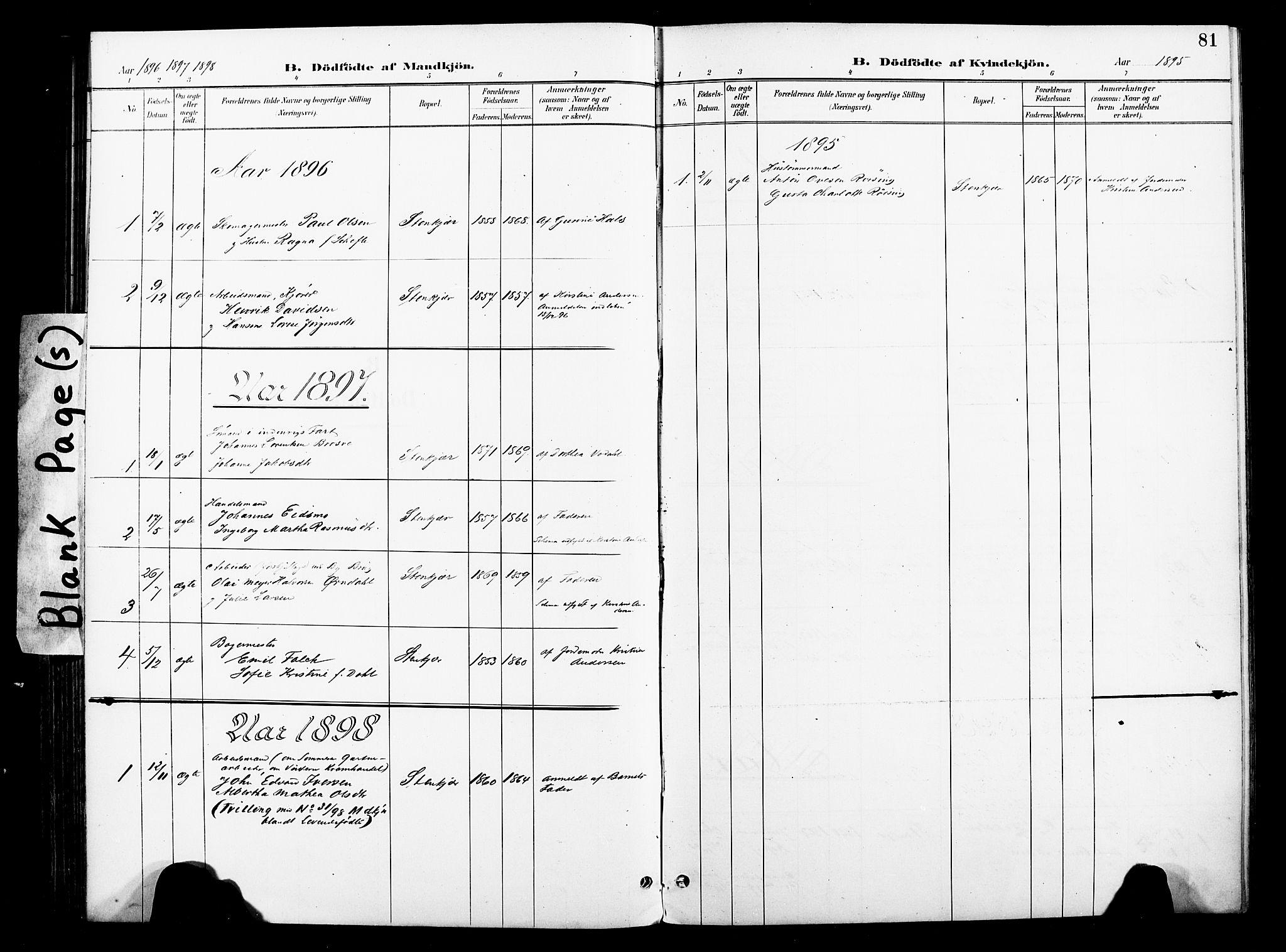 SAT, Ministerialprotokoller, klokkerbøker og fødselsregistre - Nord-Trøndelag, 739/L0372: Ministerialbok nr. 739A04, 1895-1903, s. 81