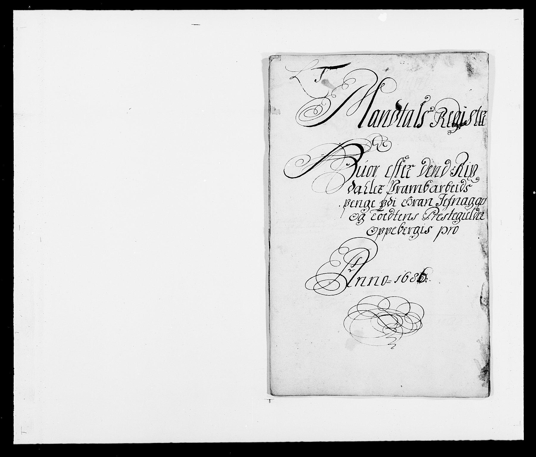 RA, Rentekammeret inntil 1814, Reviderte regnskaper, Fogderegnskap, R18/L1285: Fogderegnskap Hadeland, Toten og Valdres, 1686, s. 241