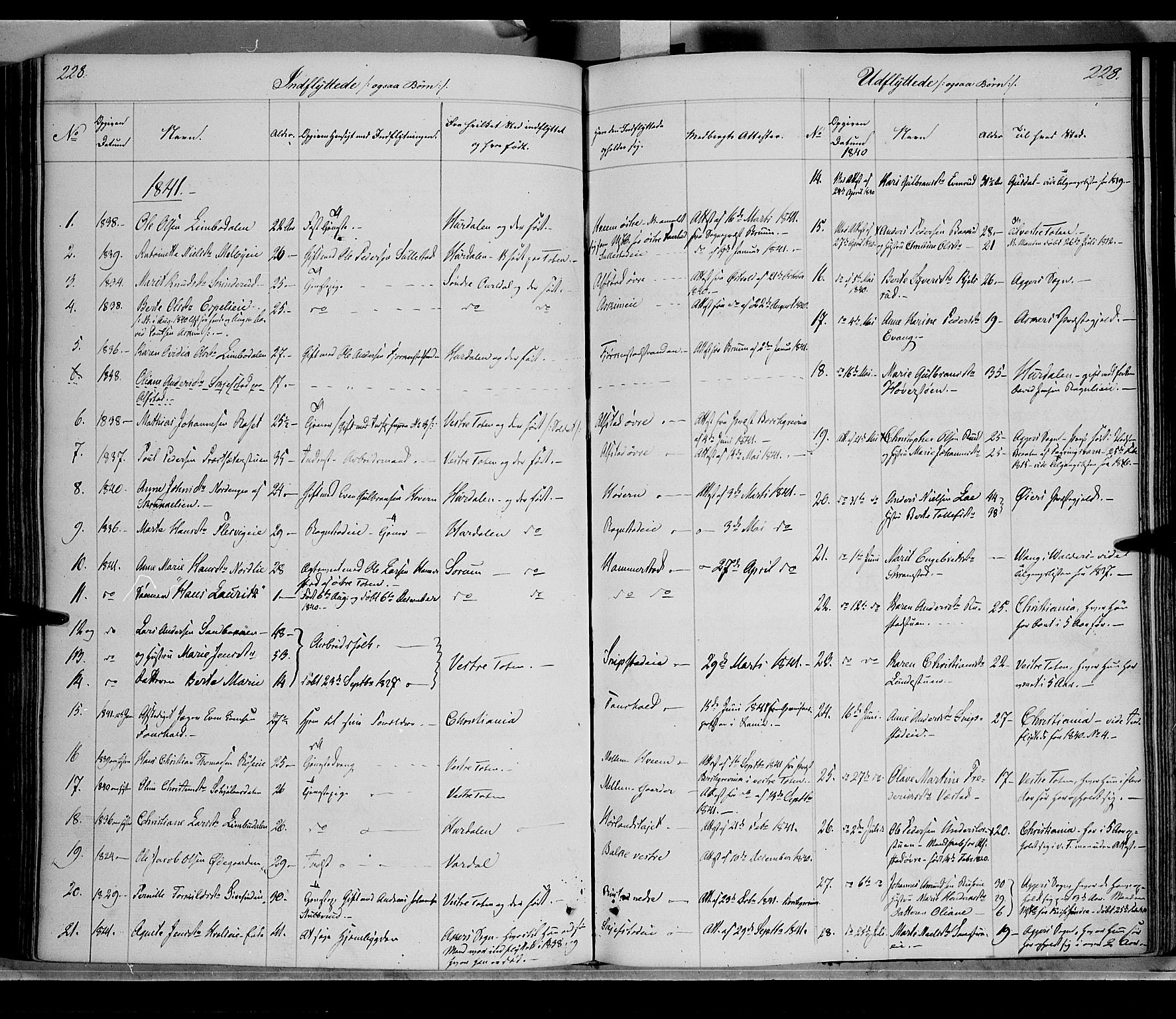 SAH, Østre Toten prestekontor, Ministerialbok nr. 2, 1840-1847, s. 228
