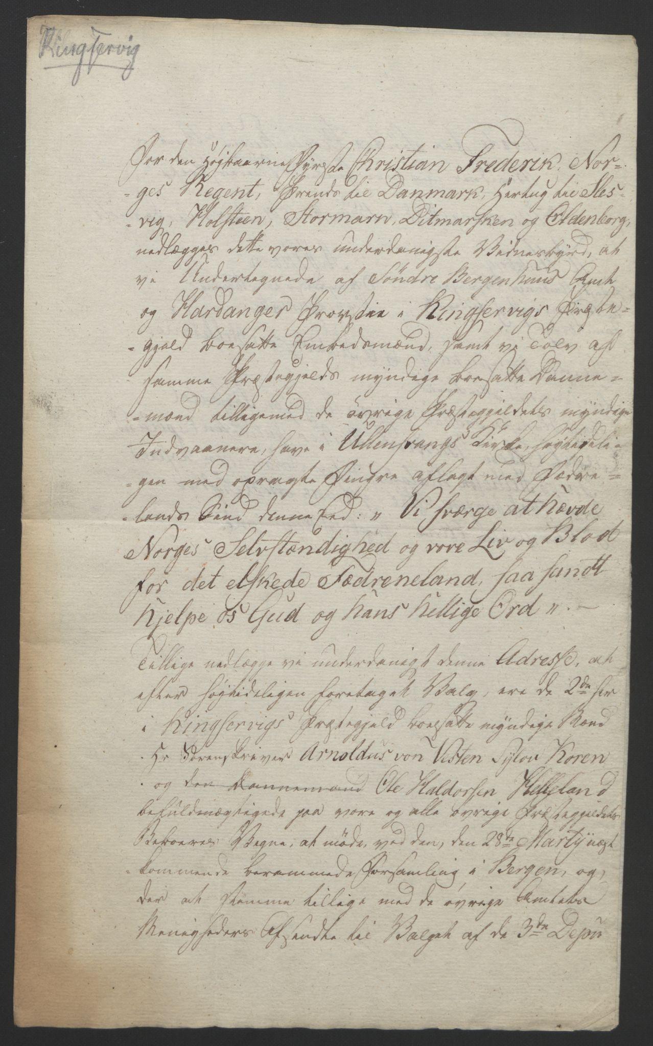 RA, Statsrådssekretariatet, D/Db/L0008: Fullmakter for Eidsvollsrepresentantene i 1814. , 1814, s. 284