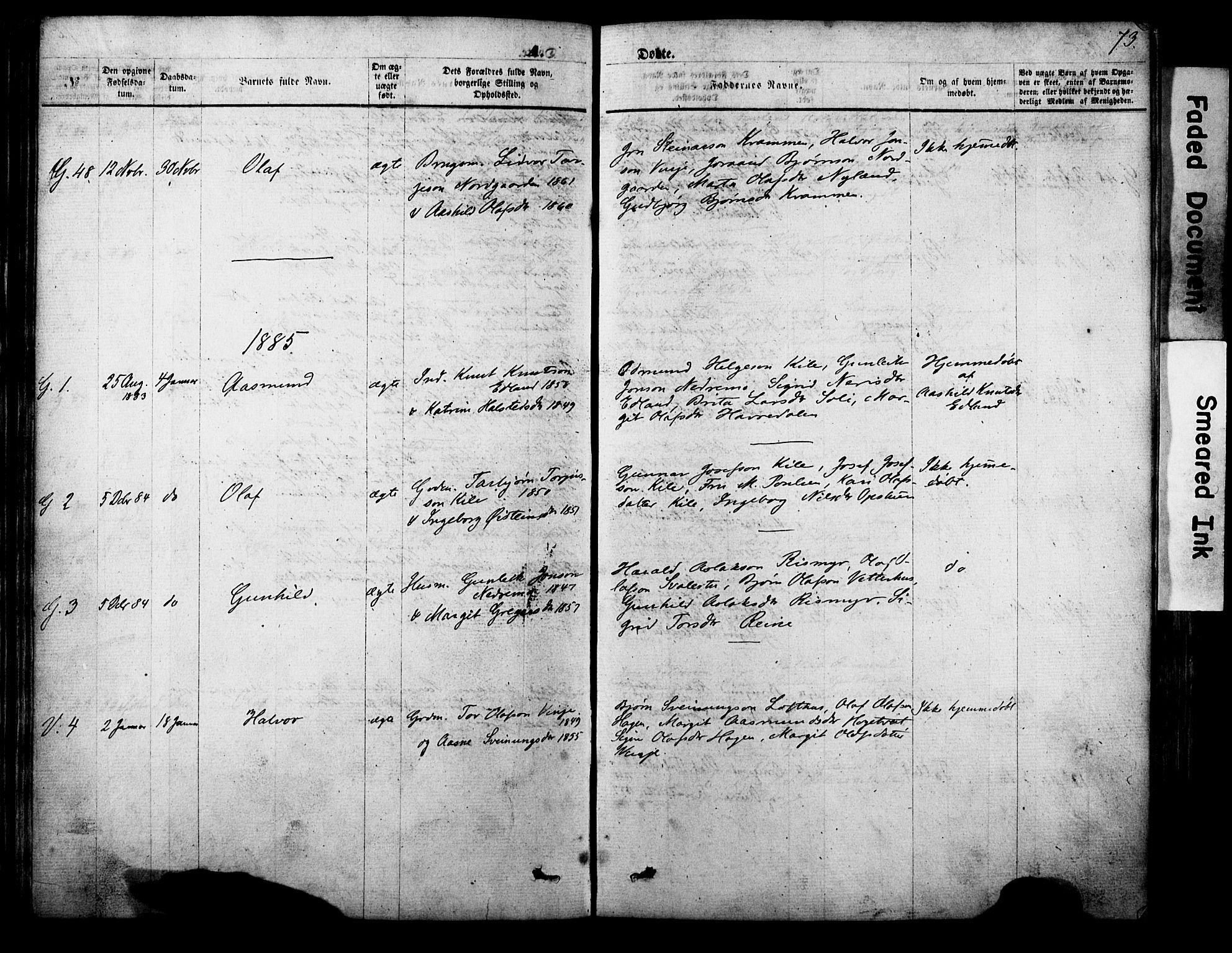 SAKO, Vinje kirkebøker, F/Fa/L0005: Ministerialbok nr. I 5, 1870-1886, s. 73