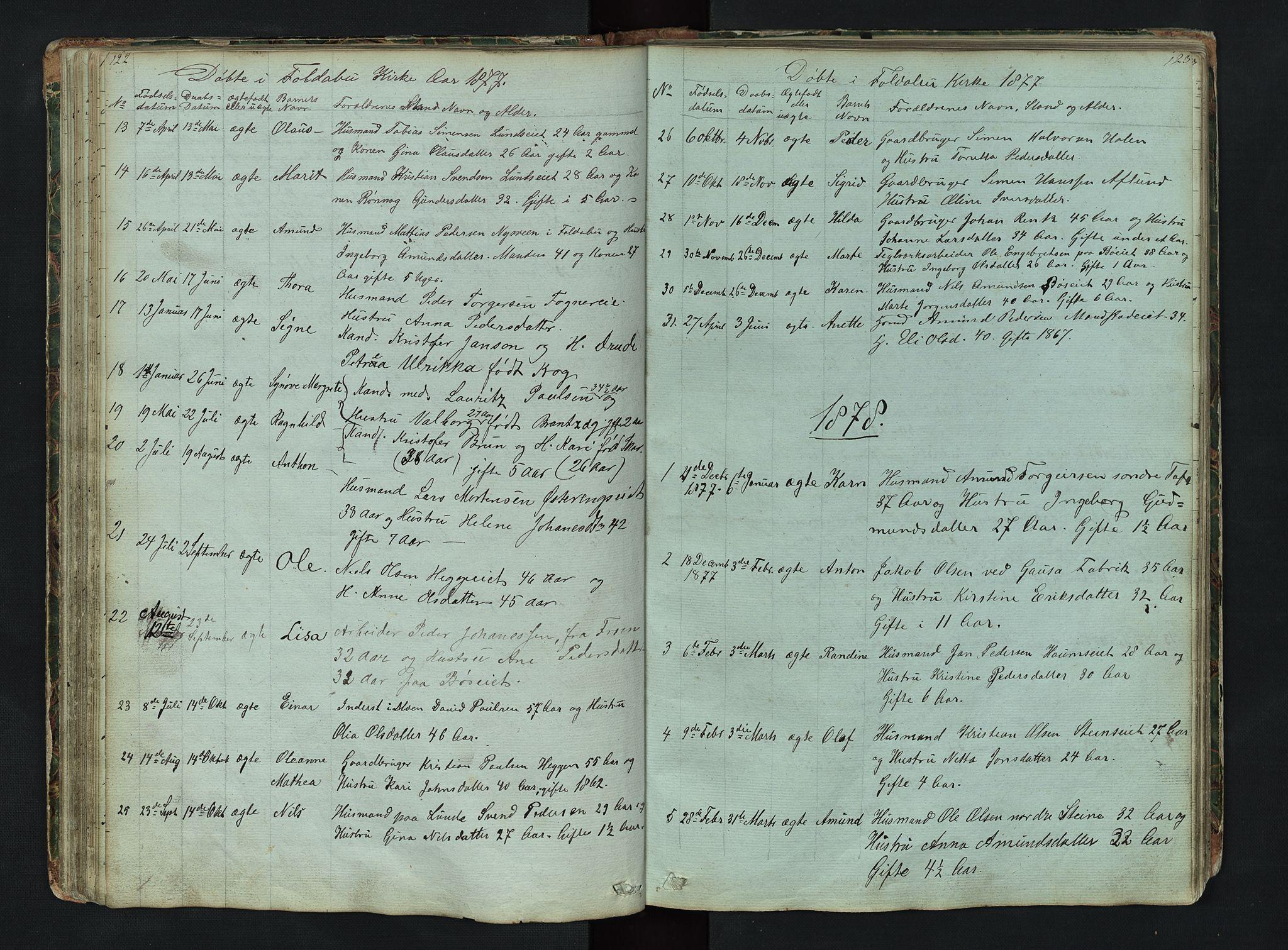 SAH, Gausdal prestekontor, Klokkerbok nr. 6, 1846-1893, s. 122-123