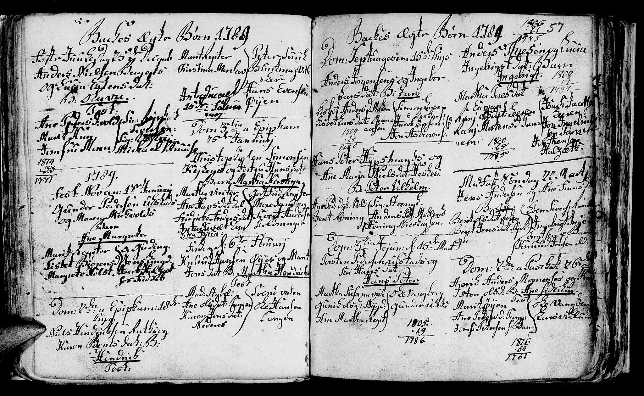 SAT, Ministerialprotokoller, klokkerbøker og fødselsregistre - Sør-Trøndelag, 604/L0218: Klokkerbok nr. 604C01, 1754-1819, s. 57