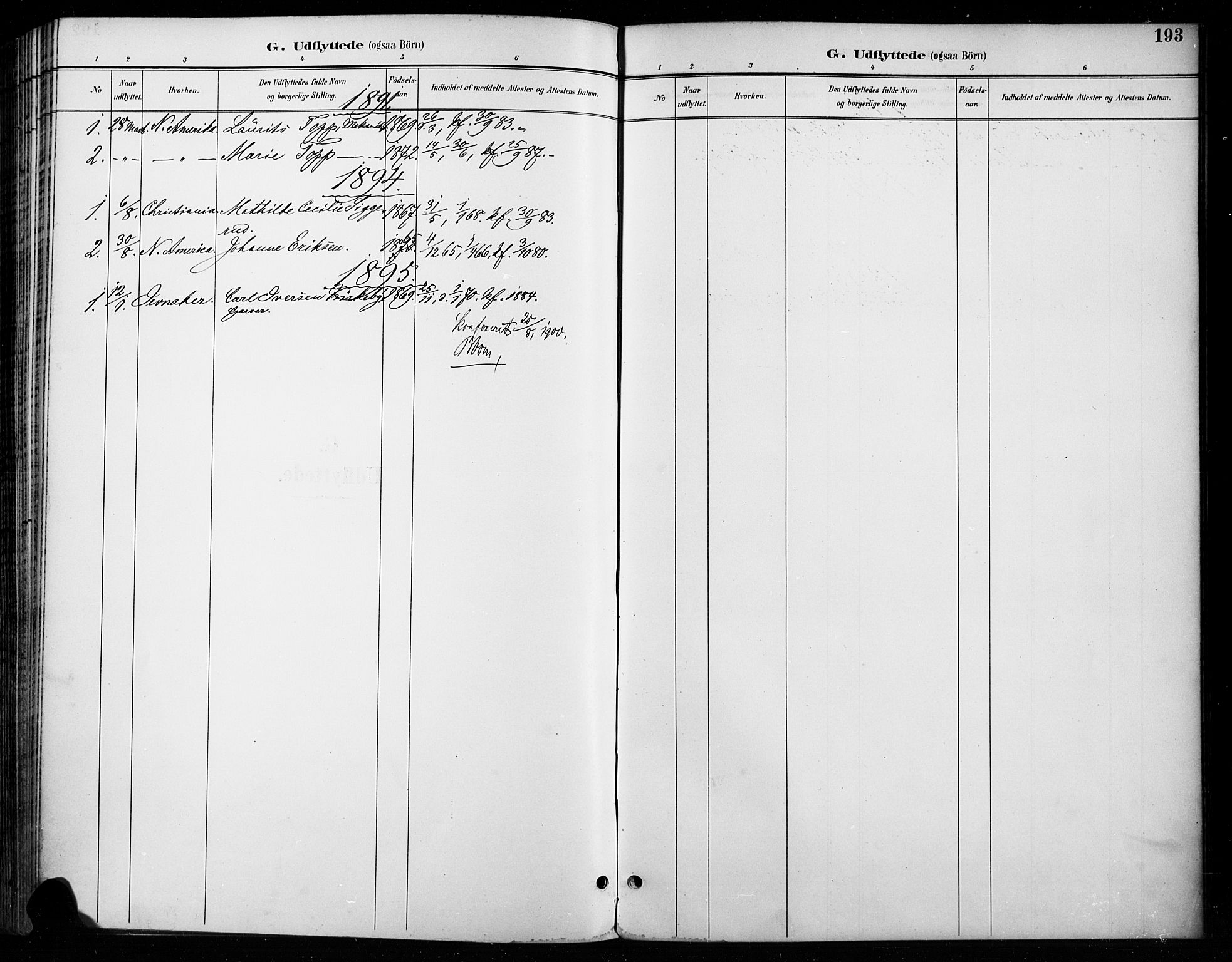SAH, Vardal prestekontor, H/Ha/Haa/L0011: Ministerialbok nr. 11, 1891-1901, s. 193