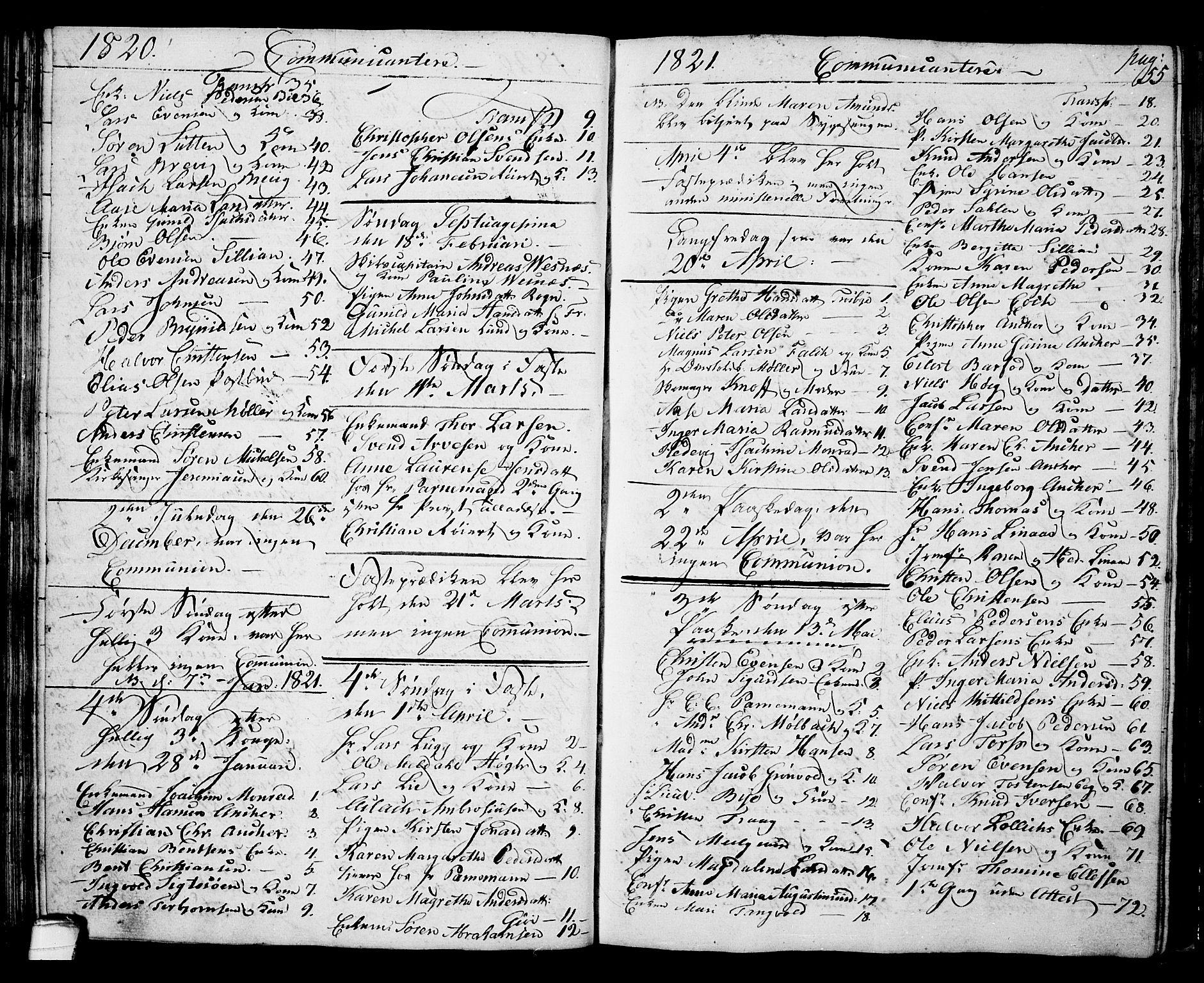 SAKO, Langesund kirkebøker, G/Ga/L0002: Klokkerbok nr. 2, 1801-1815, s. 55