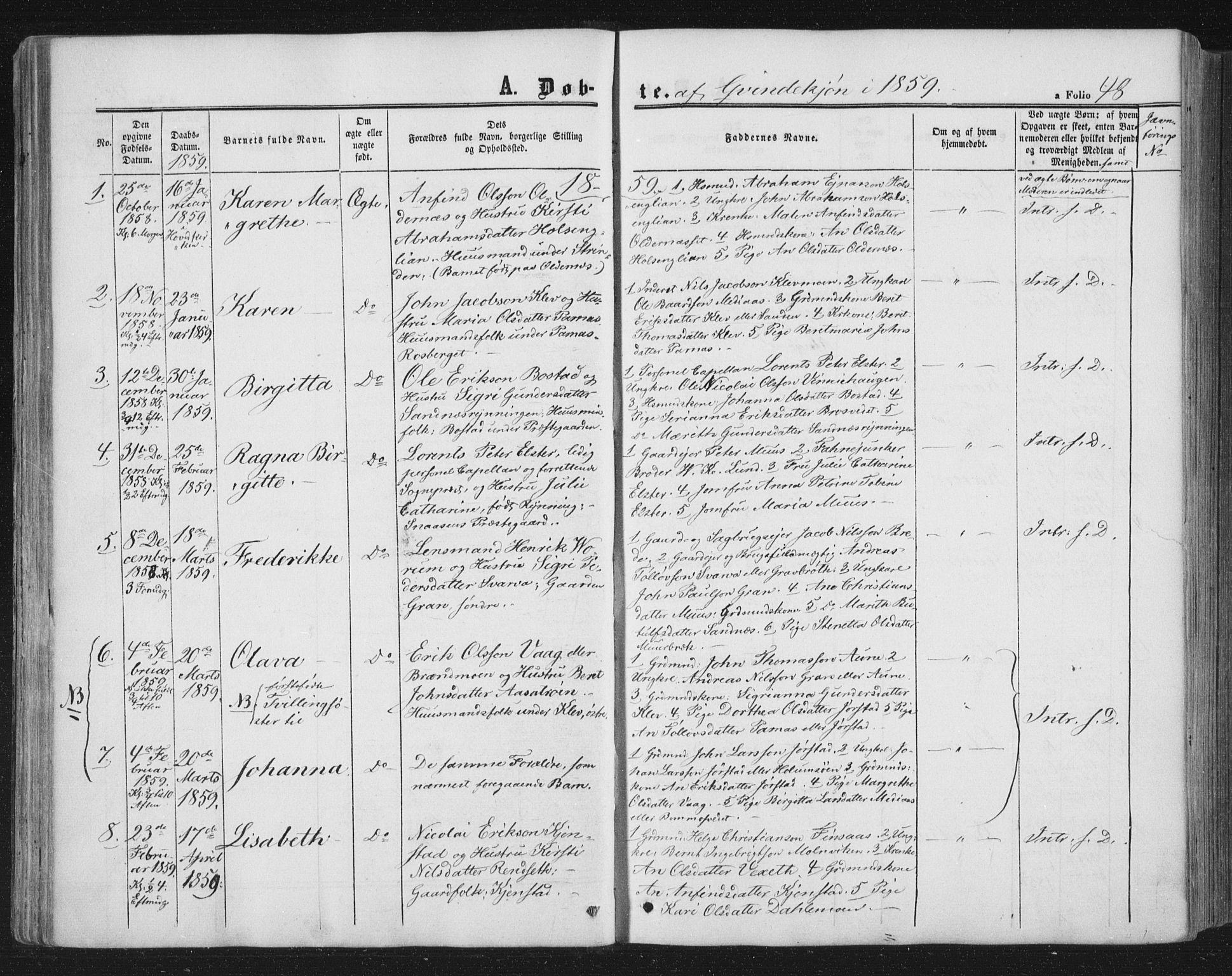 SAT, Ministerialprotokoller, klokkerbøker og fødselsregistre - Nord-Trøndelag, 749/L0472: Ministerialbok nr. 749A06, 1857-1873, s. 48