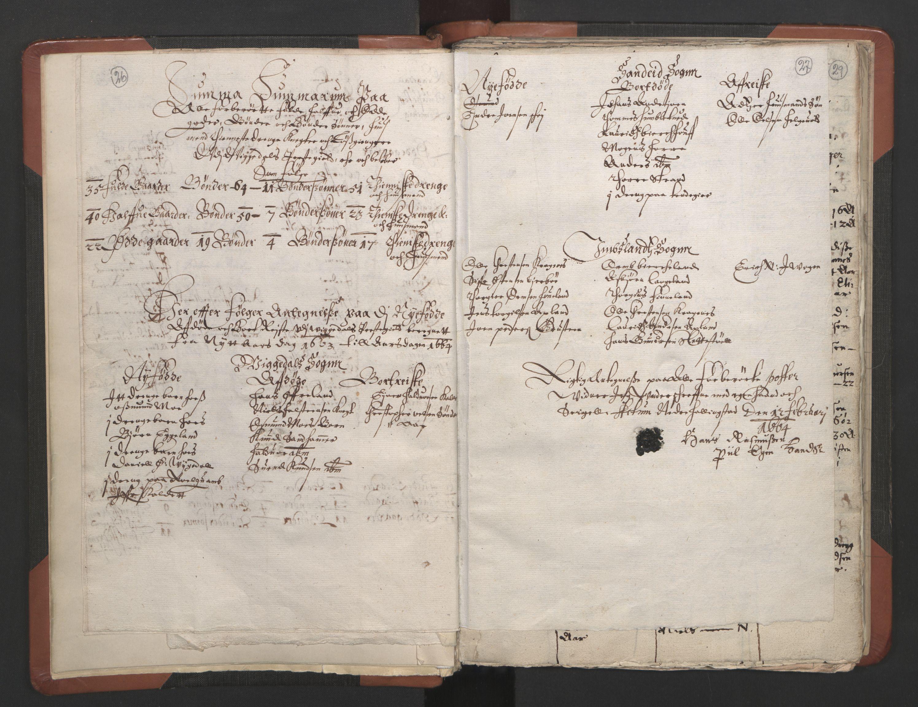 RA, Sogneprestenes manntall 1664-1666, nr. 19: Ryfylke prosti, 1664-1666, s. 26-27