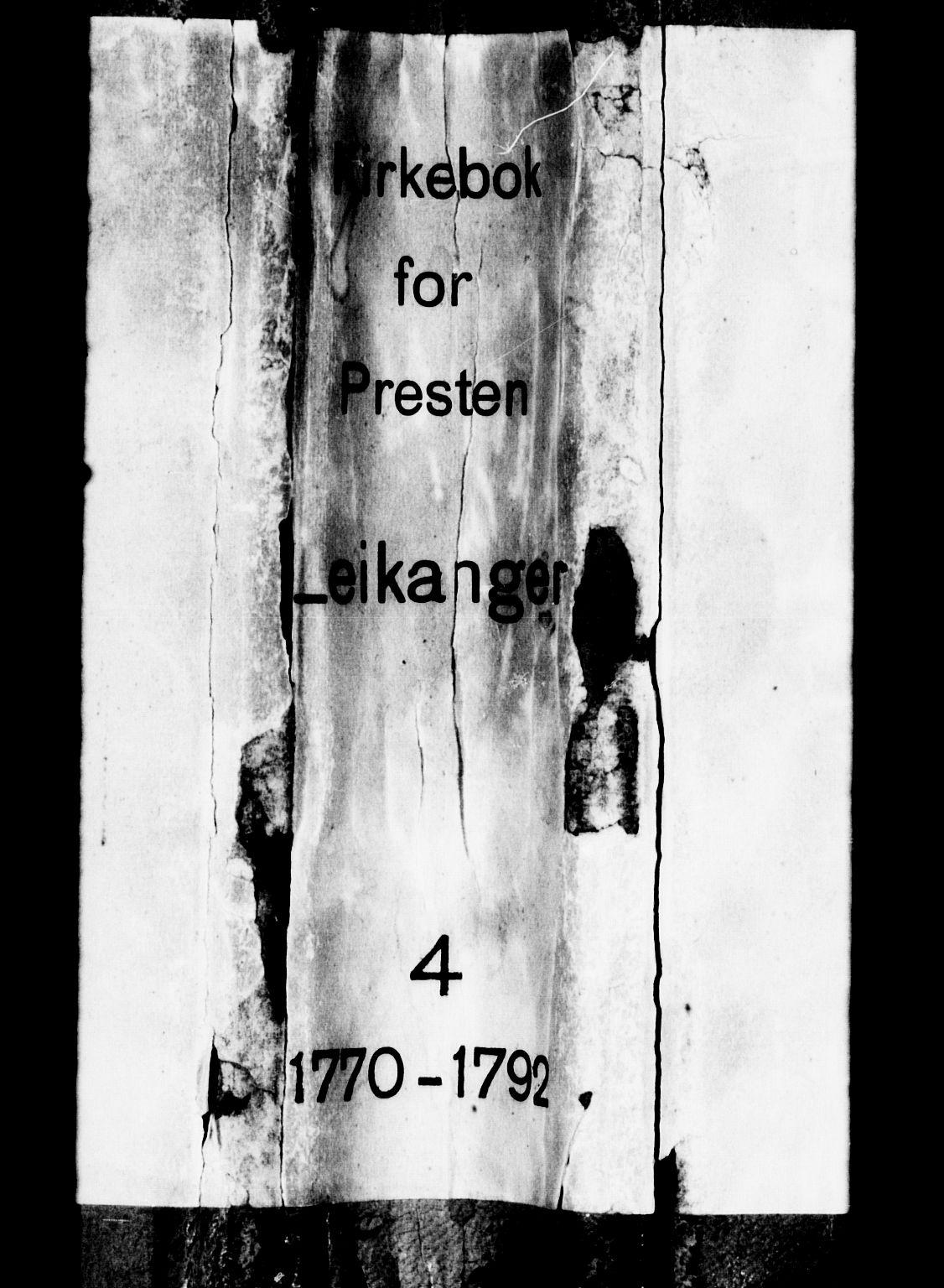SAB, Leikanger Sokneprestembete, Ministerialbok nr. A 4, 1770-1791