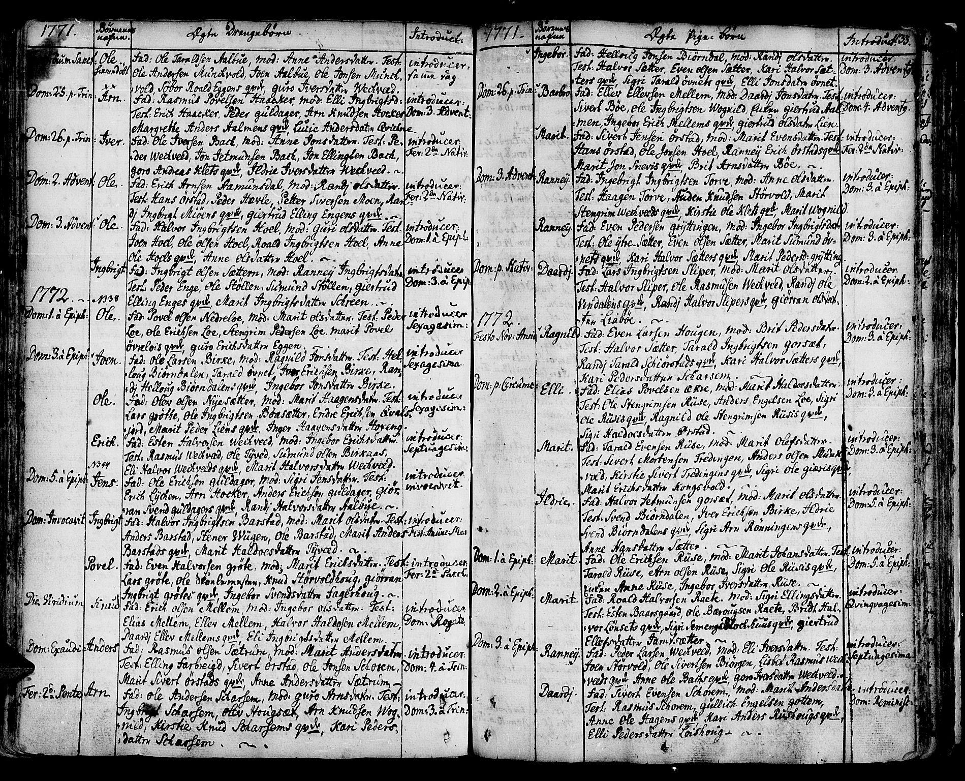 SAT, Ministerialprotokoller, klokkerbøker og fødselsregistre - Sør-Trøndelag, 678/L0891: Ministerialbok nr. 678A01, 1739-1780, s. 133