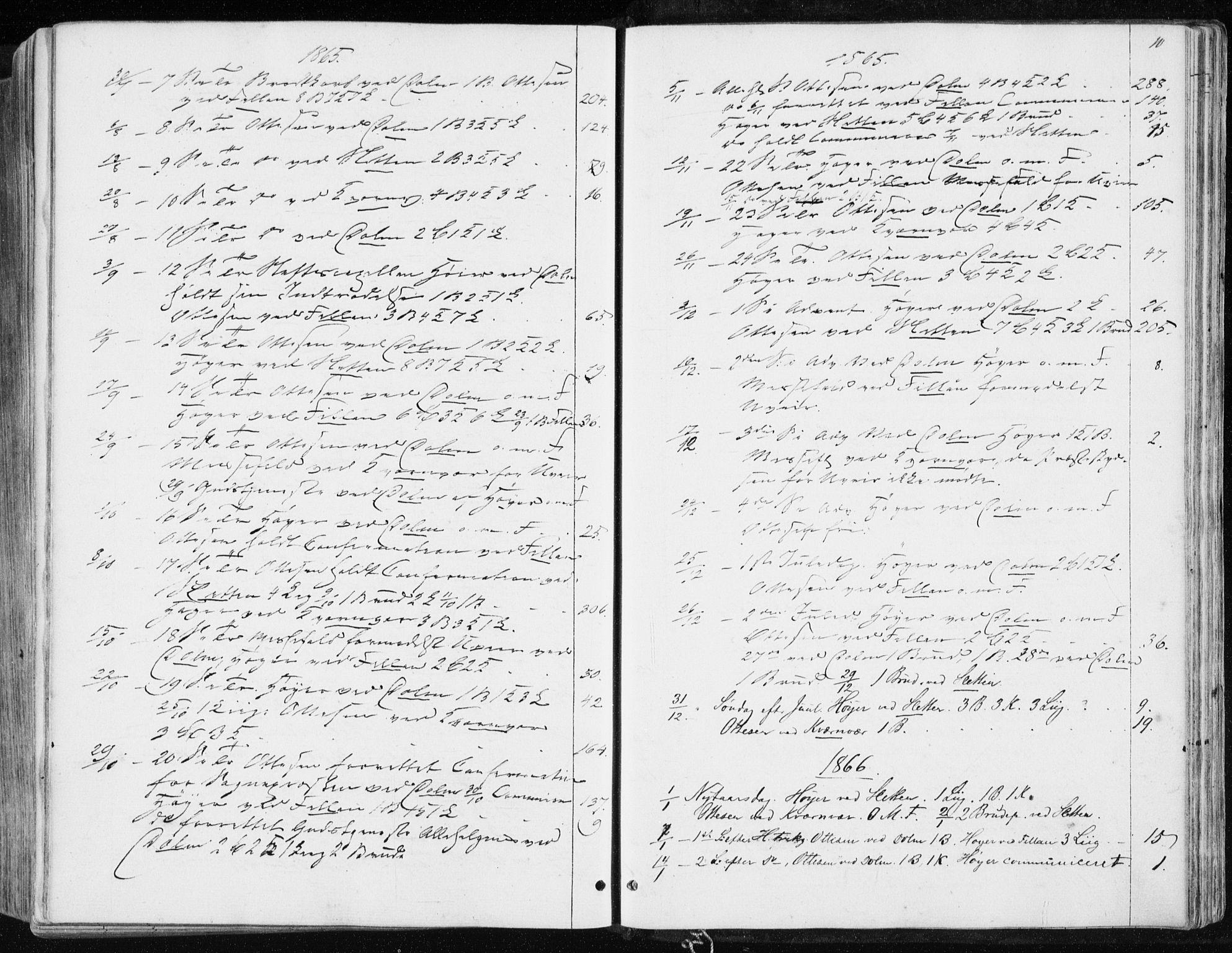 SAT, Ministerialprotokoller, klokkerbøker og fødselsregistre - Sør-Trøndelag, 634/L0531: Ministerialbok nr. 634A07, 1861-1870, s. 10