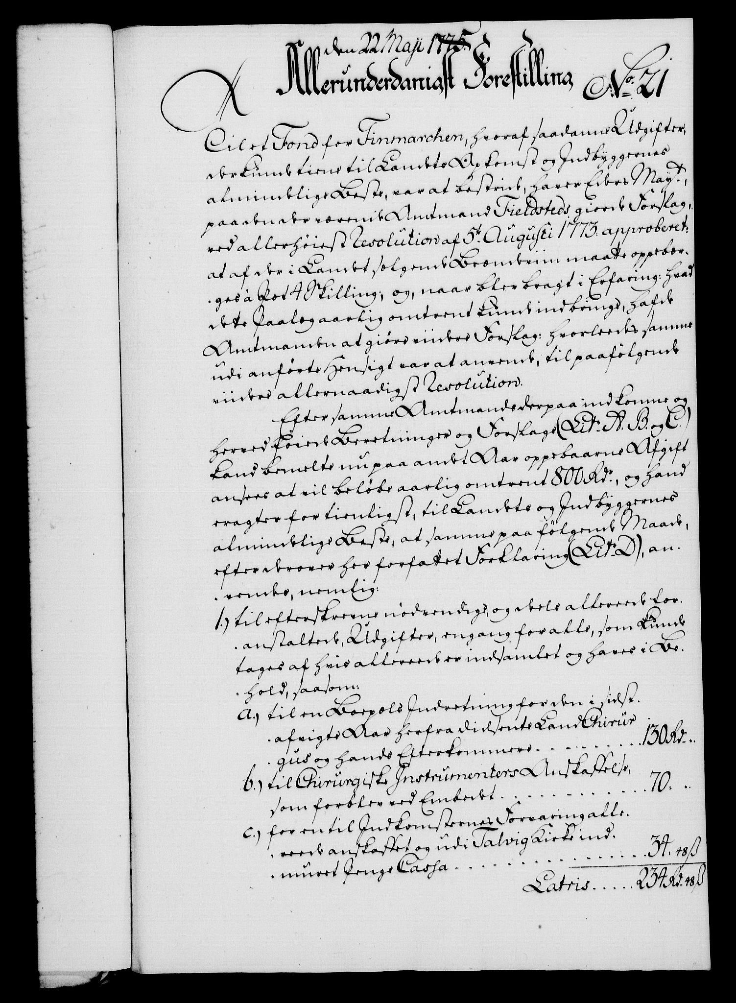 RA, Rentekammeret, Kammerkanselliet, G/Gf/Gfa/L0057: Norsk relasjons- og resolusjonsprotokoll (merket RK 52.57), 1775, s. 90